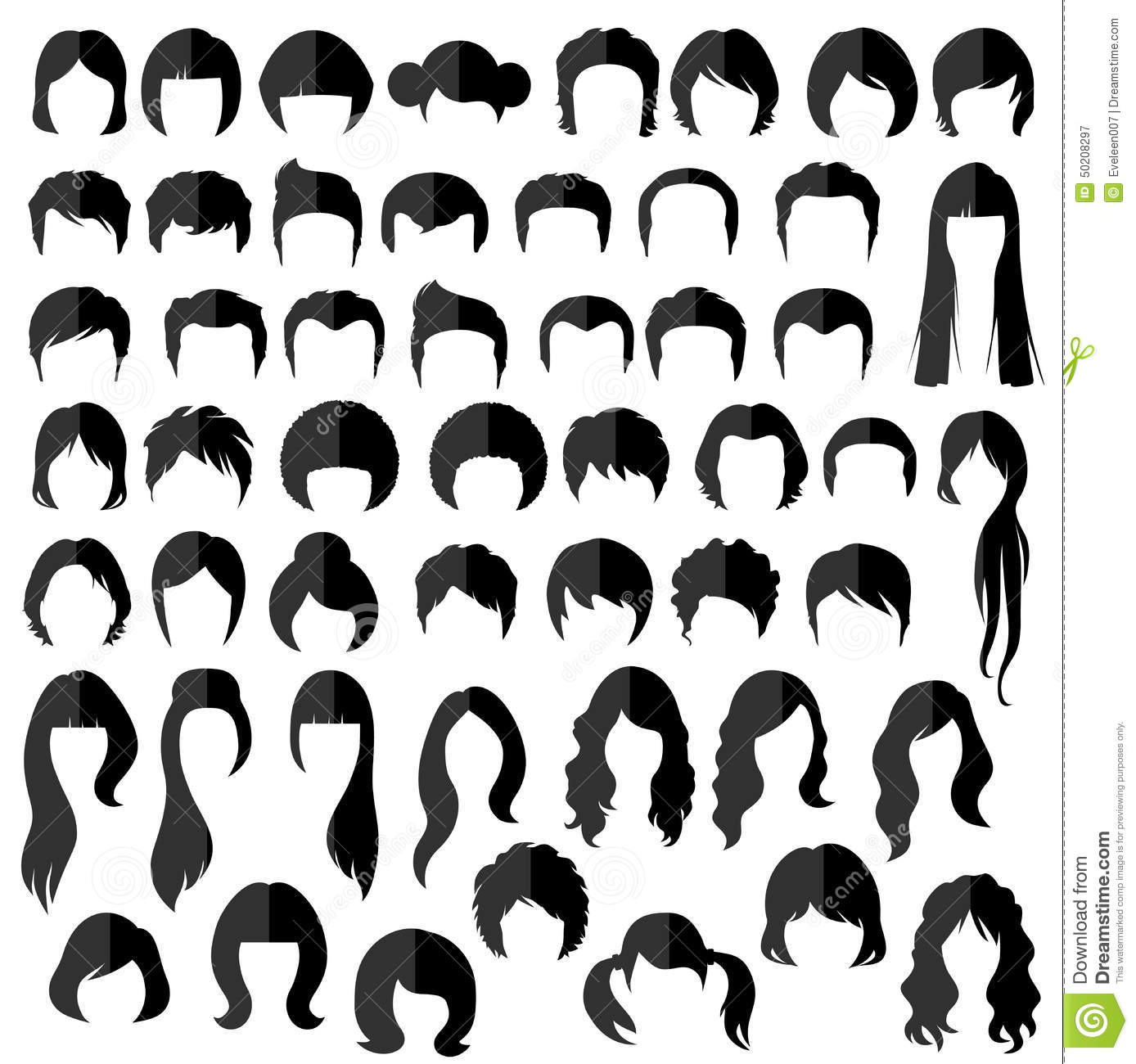 Hair Vector Hairstyle Stock Vector Image 50208297