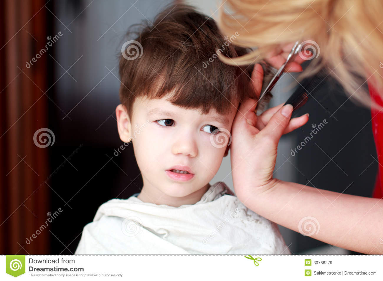 Haircut Of Little Boy Stock Image Image Of Child Beauty