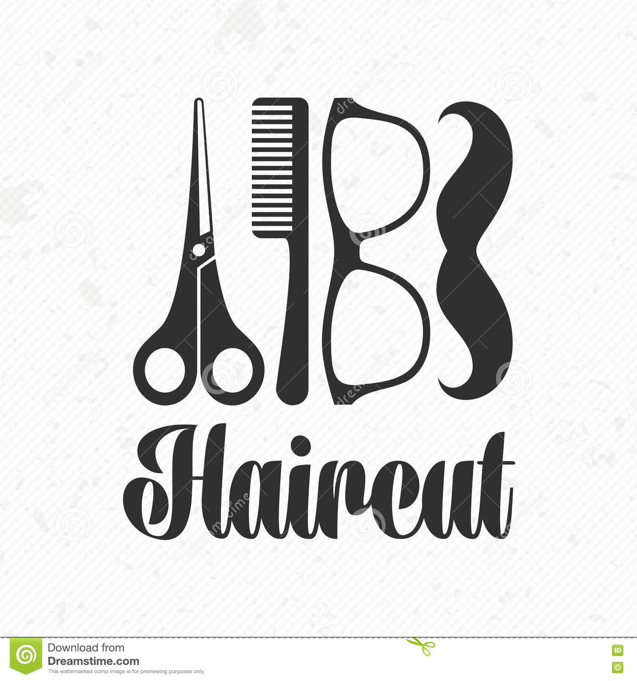 haircut vector logo stock vector image of background
