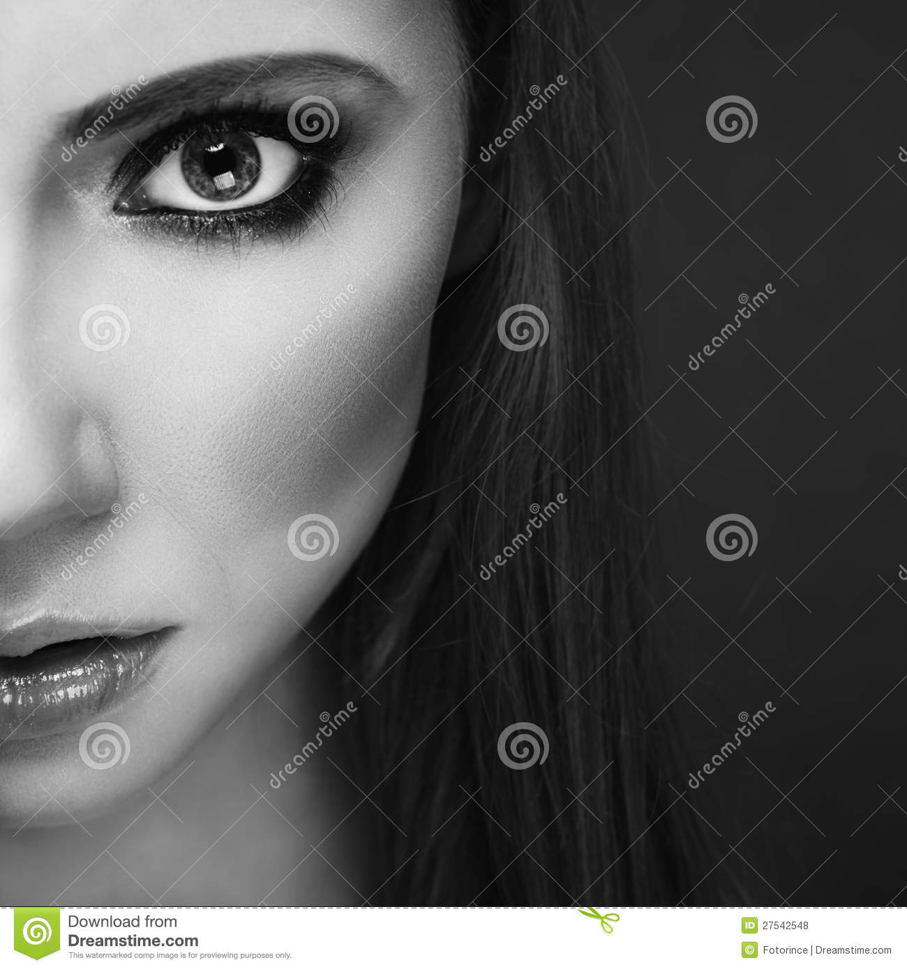 Half Face Portrait Royalty Free Stock Photos