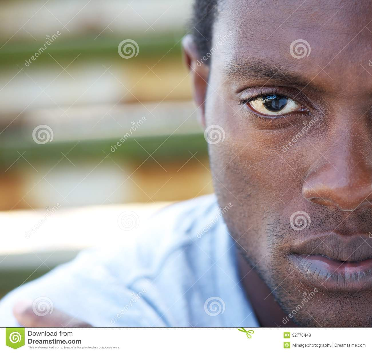 Half Face Portrait Of An African American Man Royalty Free Stock Photos