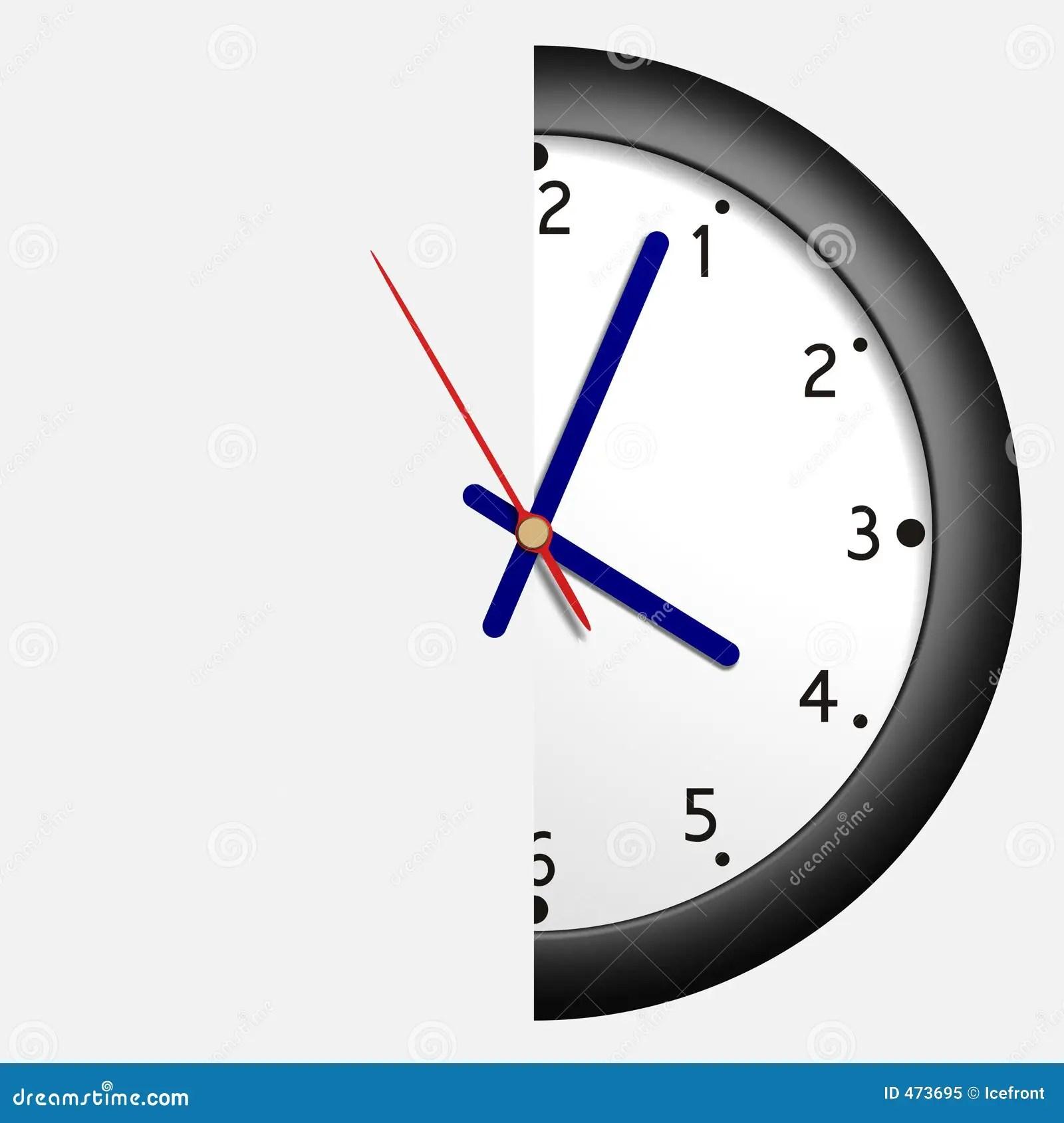 Half Hour Stock Illustration Image Of Round Second