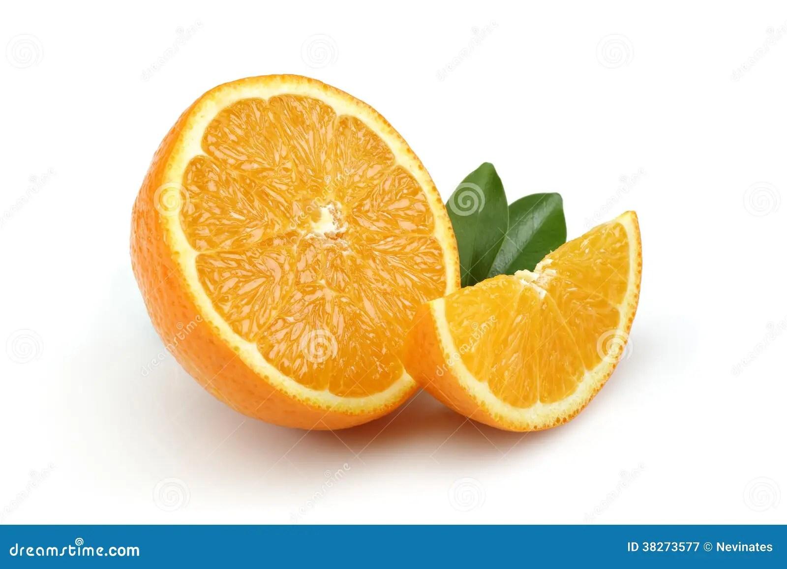Half Orange And Orange Slice Stock Image