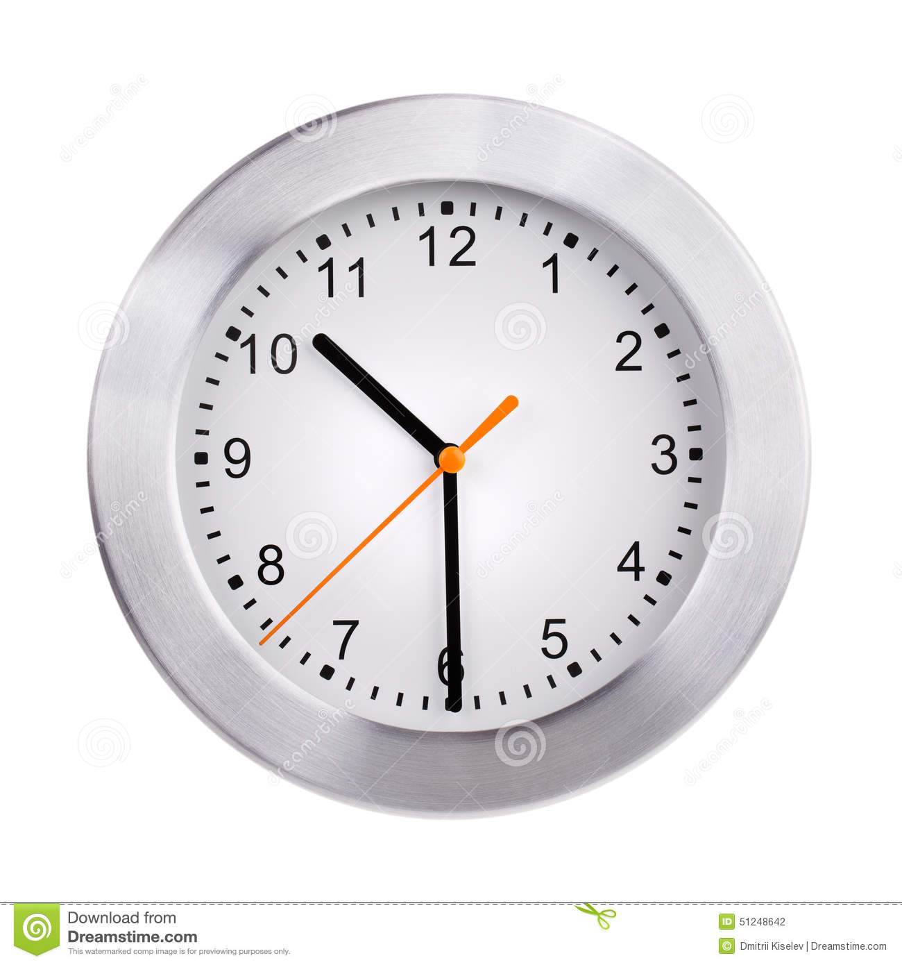 Half Past Ten On The Clock Stock Photo Image Of Timepiece