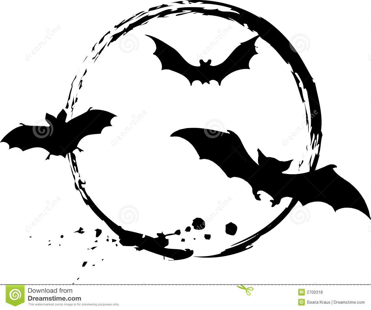 Halloween Bats Stock Vector Illustration Of Dark Flying