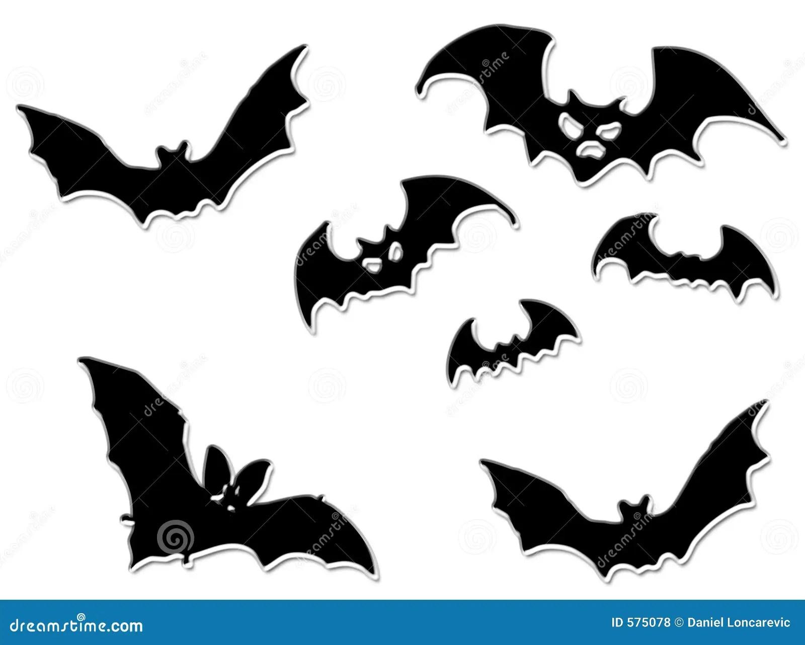 Halloween Bats Flying Stock Illustration Illustration Of