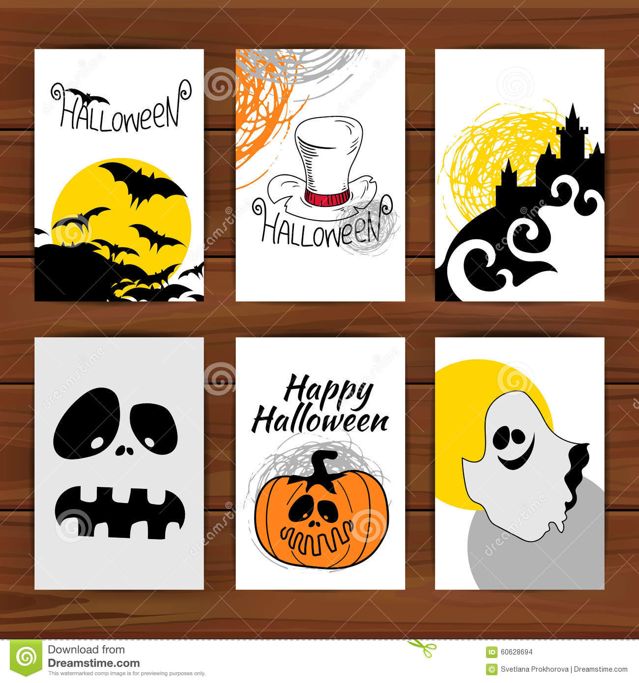 Halloween Cards Stock Vector Illustration Of Card Dirty