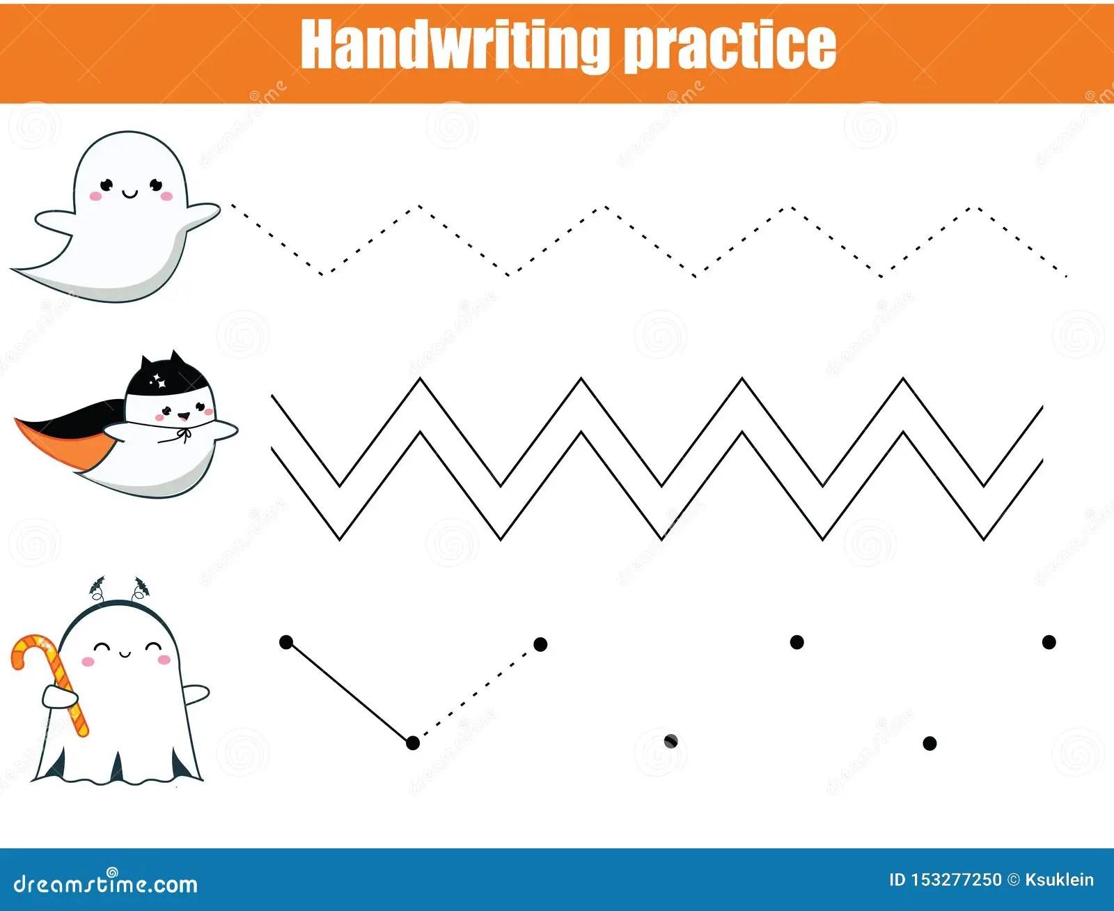 Halloween Game Handwriting Practice Sheet Early