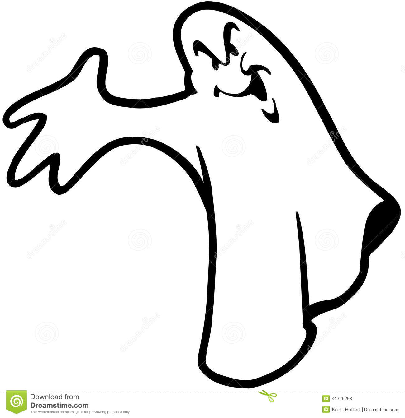 Halloween Ghost Cartoon Design Vector Clipart Stock Vector