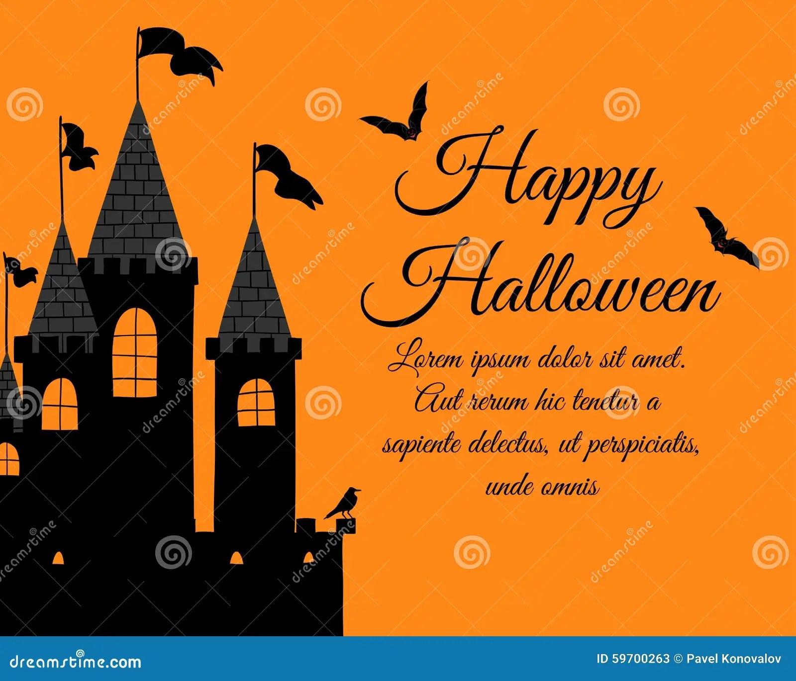Halloween Greeting Card Stock Vector Illustration Of Hand