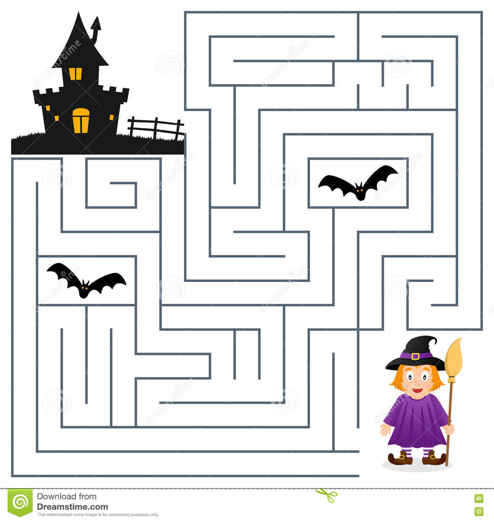 Scarecrow Maze Worksheet
