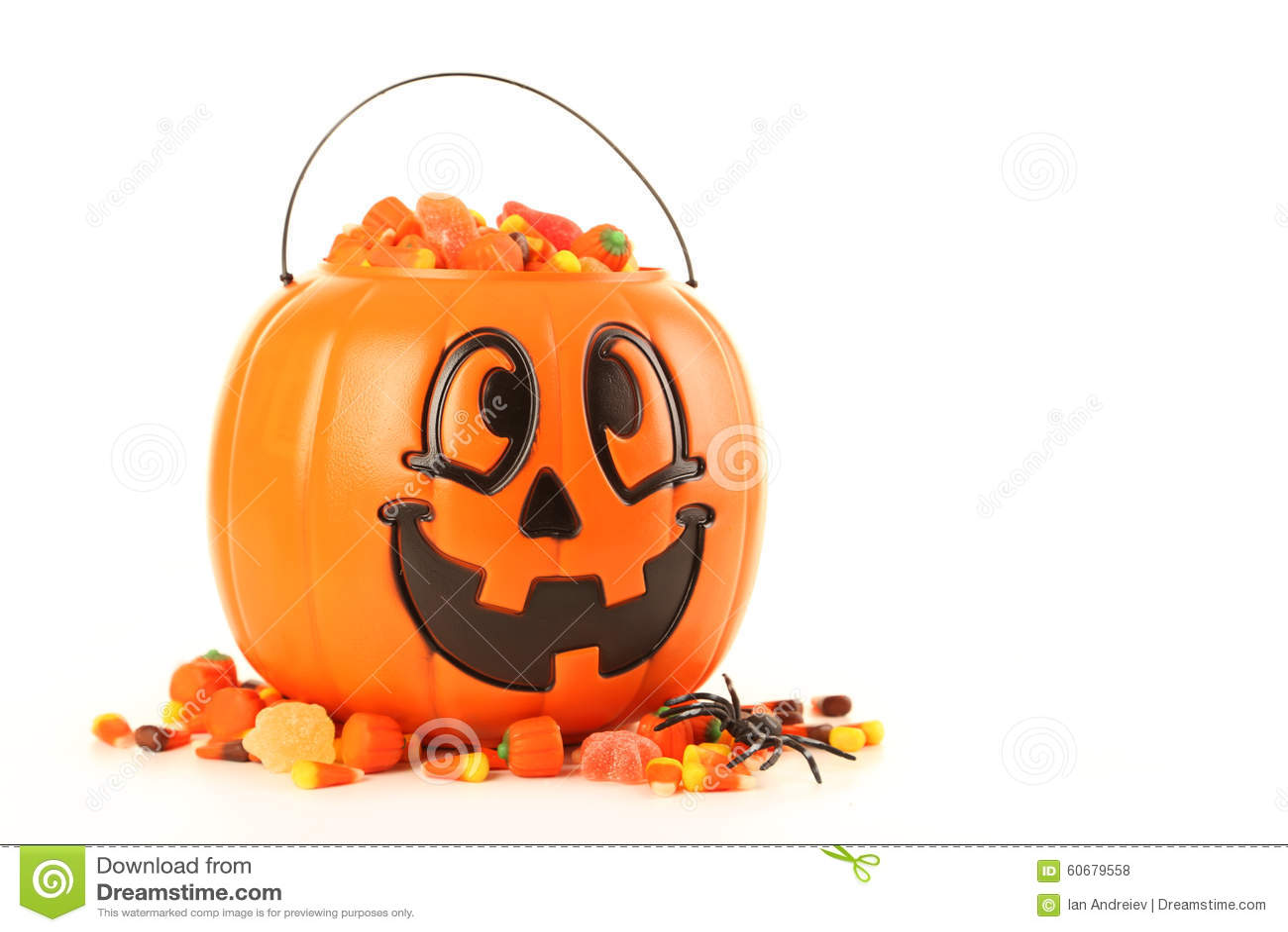 Halloween Pumpkin Basket Stock Photo Image Of Basket