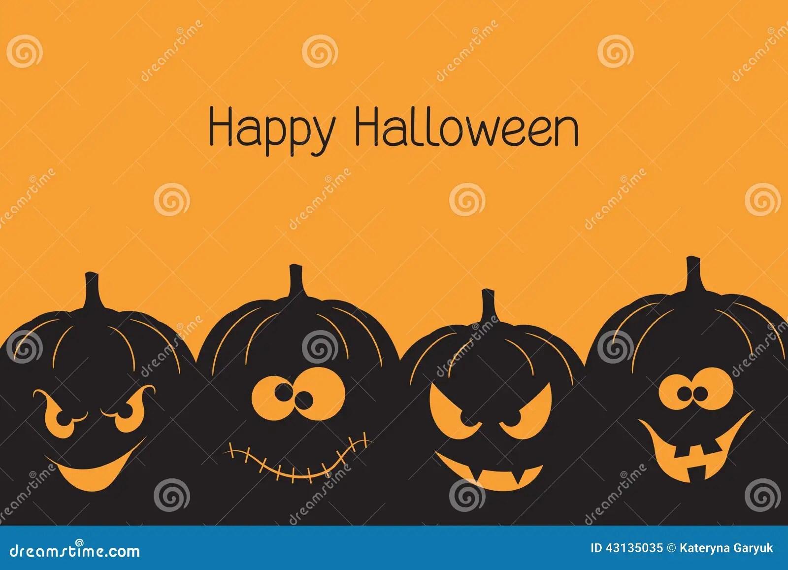 Halloween Pumpkins Stock Vector