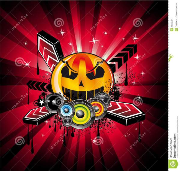 Halloween Rainbow Disco Music Background Stock Vector ...