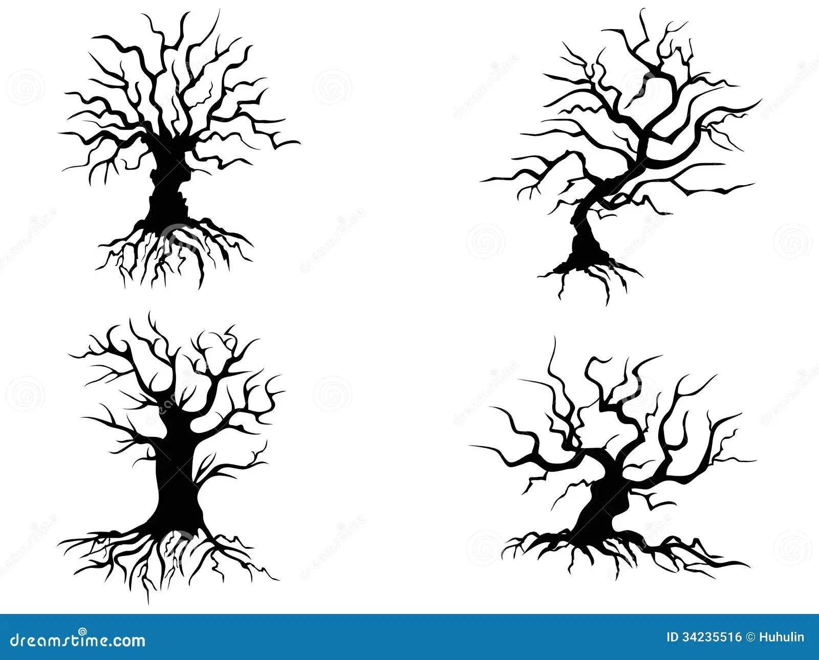 Halloween Trees Stock Vector Illustration Of Empty Roots
