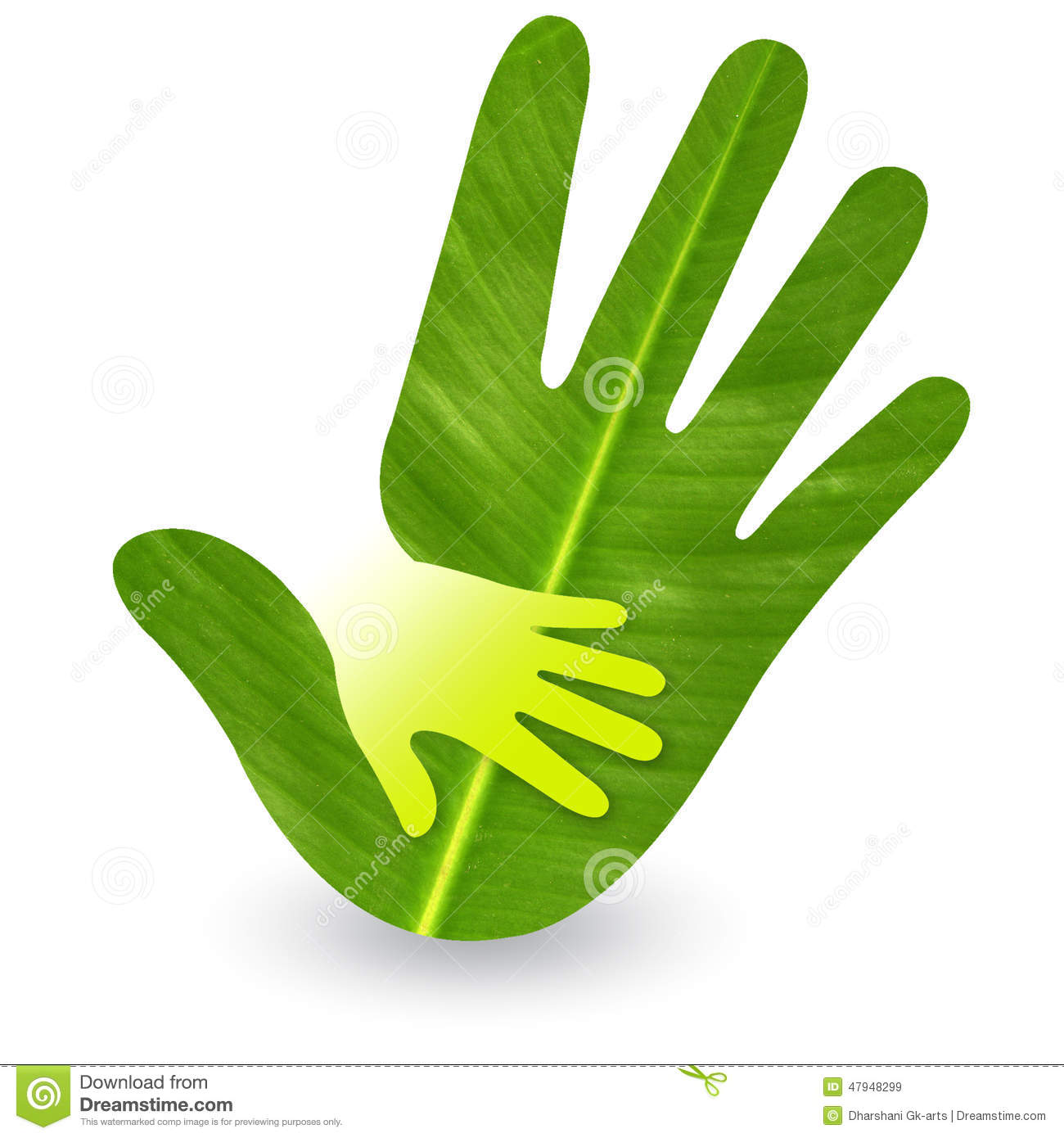 Hand Care Logo Stock Photo Image 47948299