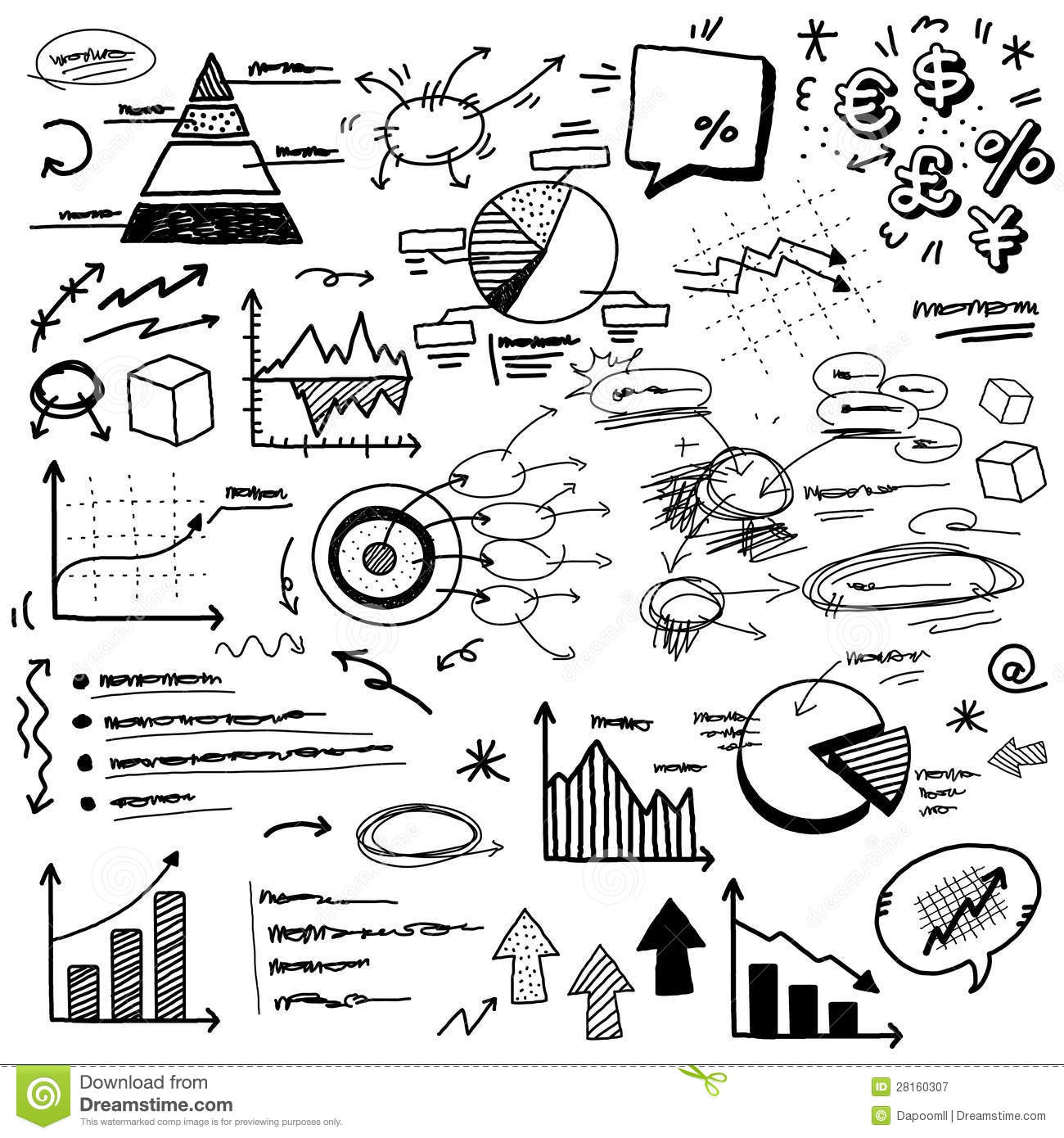 Hand Doodle Charts Stock Vector Illustration Of Info