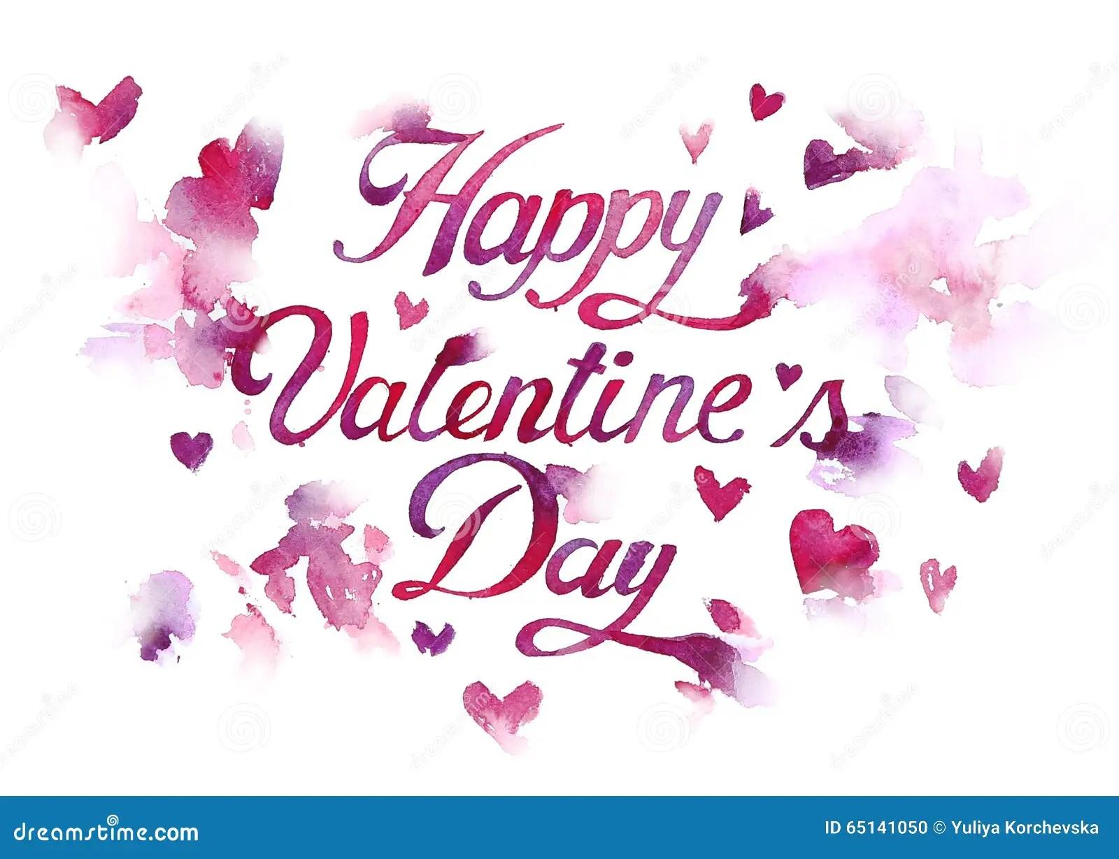 Hand Draw Illustration Happy Valentines Day Stock