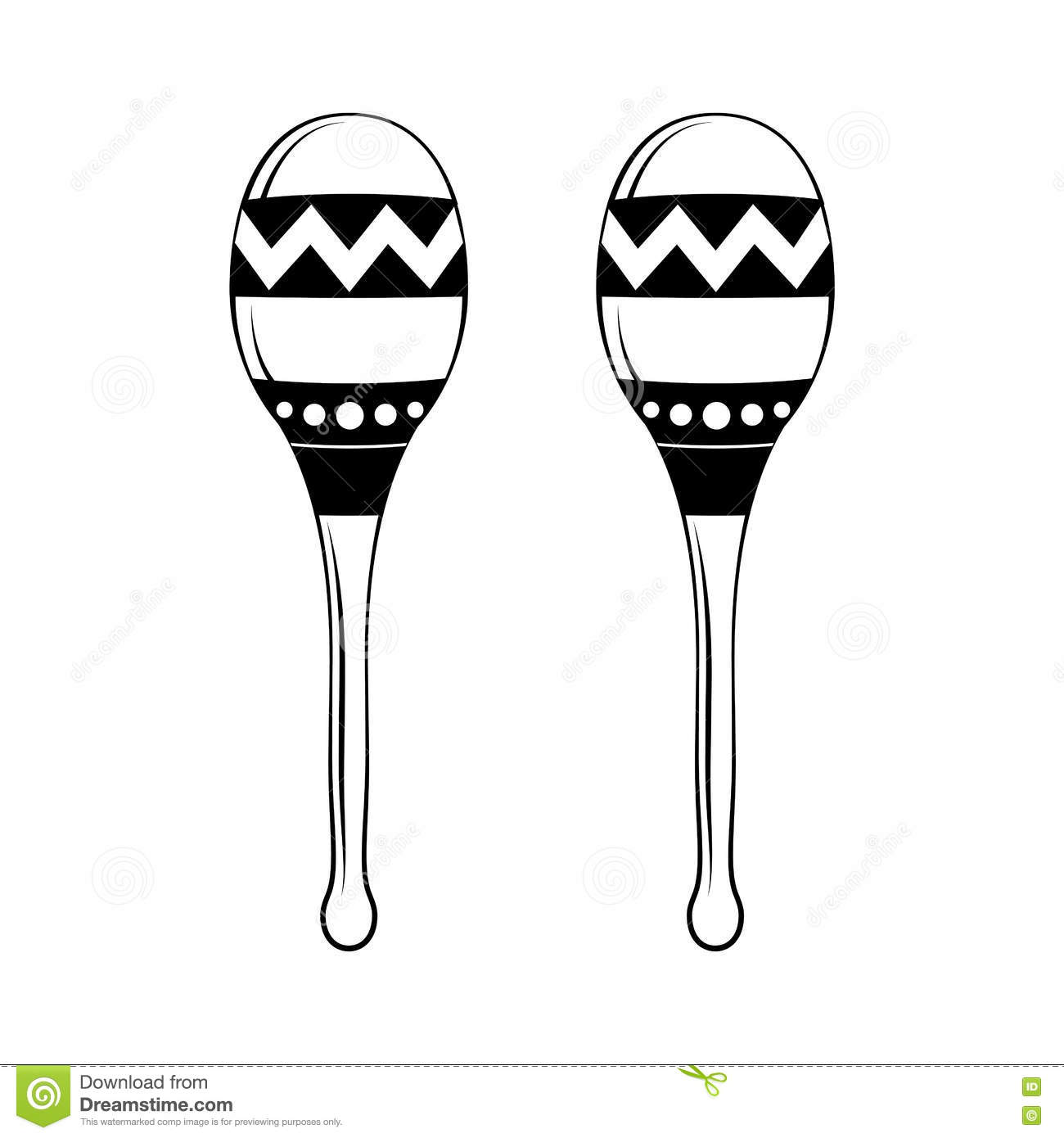 Musical Instrument A Maracas On The Isolated Background