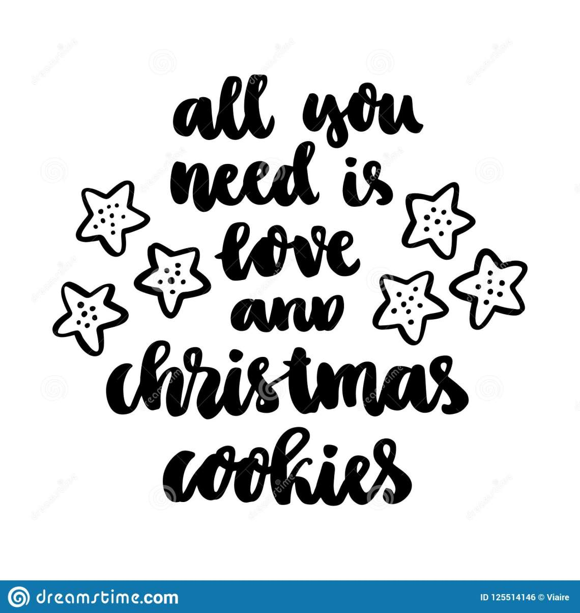 Download The Hand-drawing Quote: All You Need Is Love And Christmas ...