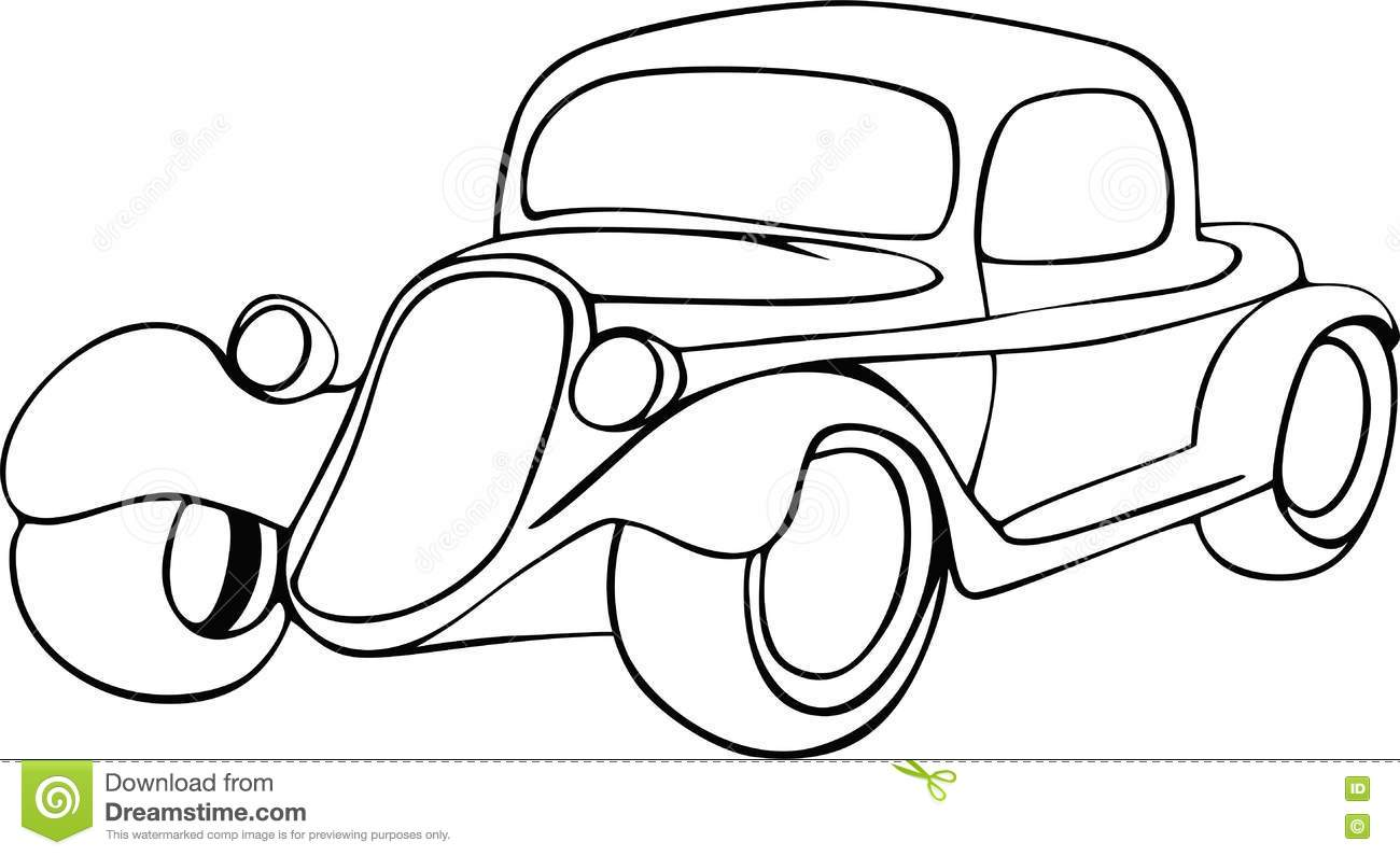 Hand Drawing Car Stock Image