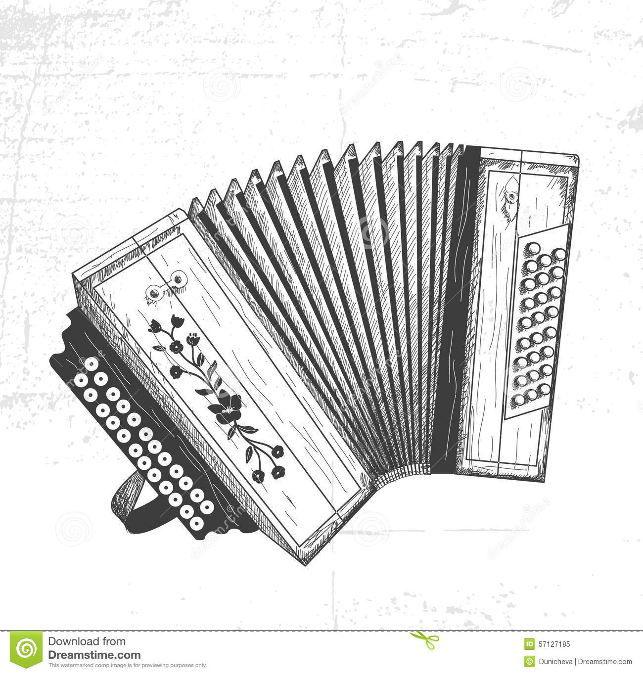 Hand Drawn Accordion Stock Vector Illustration Of System