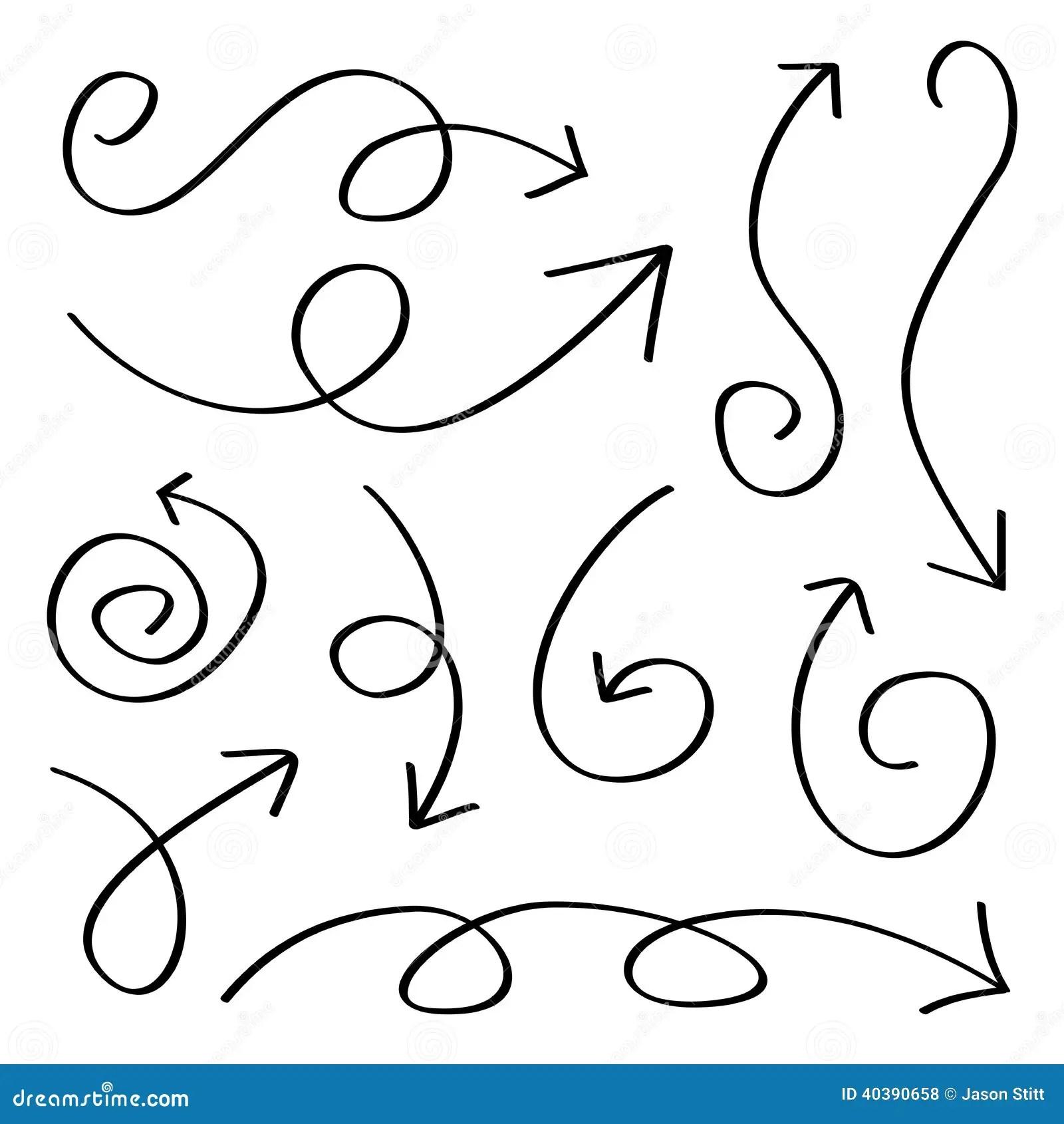 Hand Drawn Arrows Stock Vector Illustration Of Planning