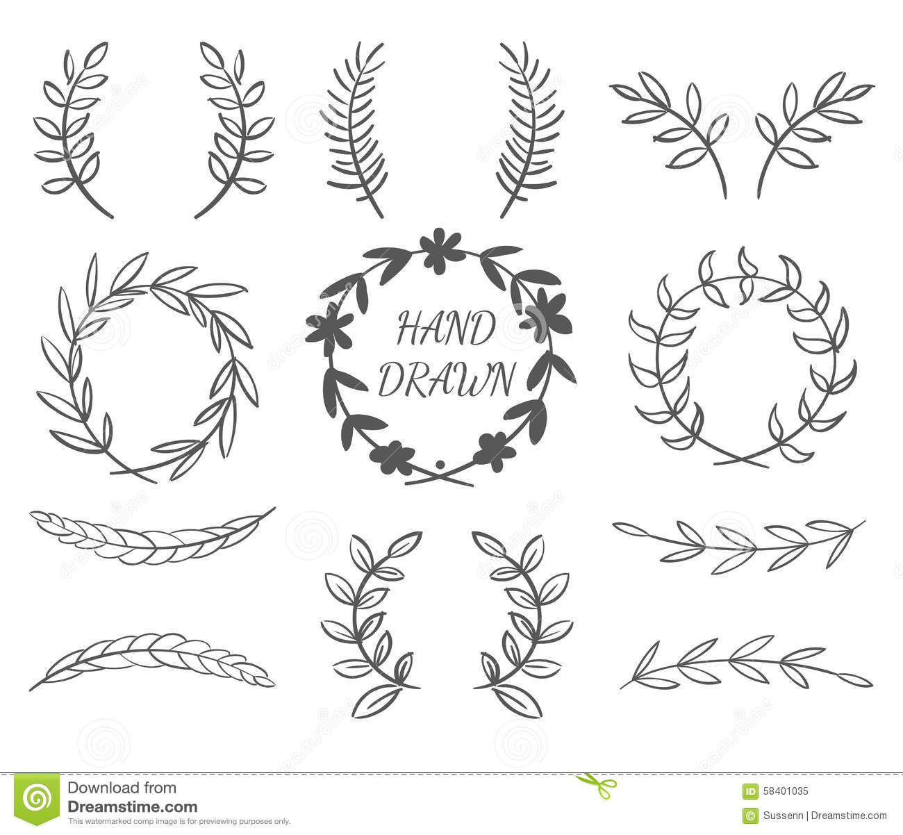 Hand Drawn Borders Stock Illustration Illustration Of