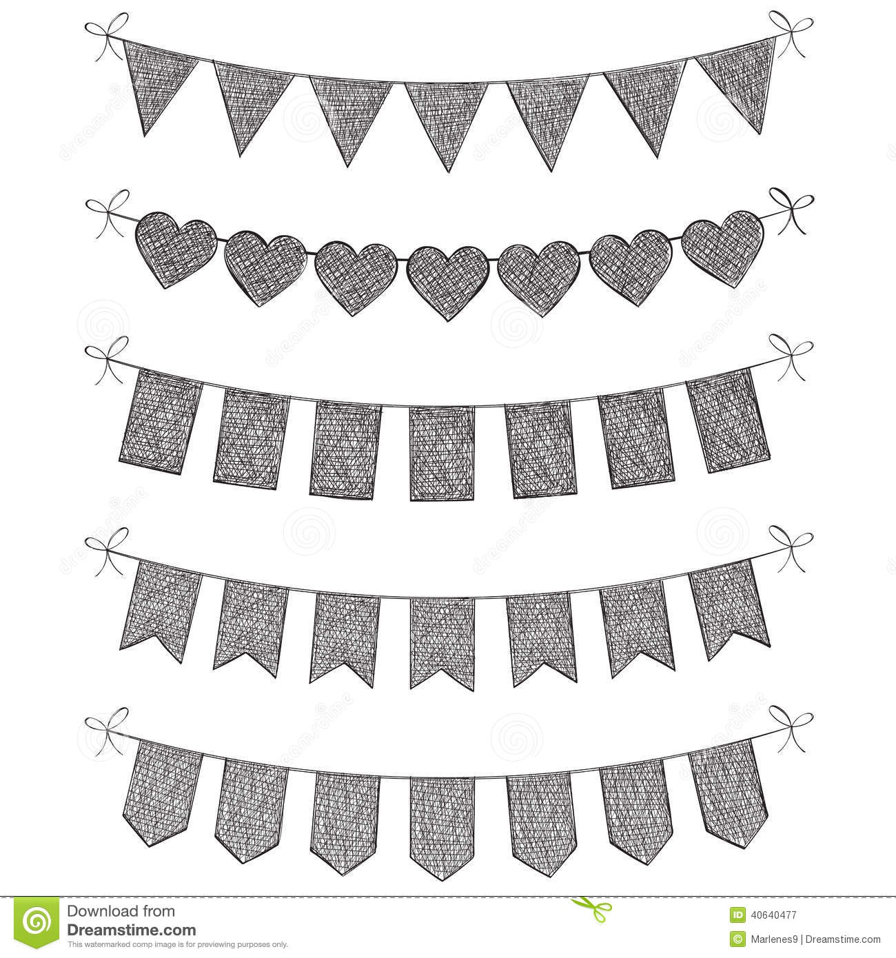 Set Of Bunting Flags Stock Vector