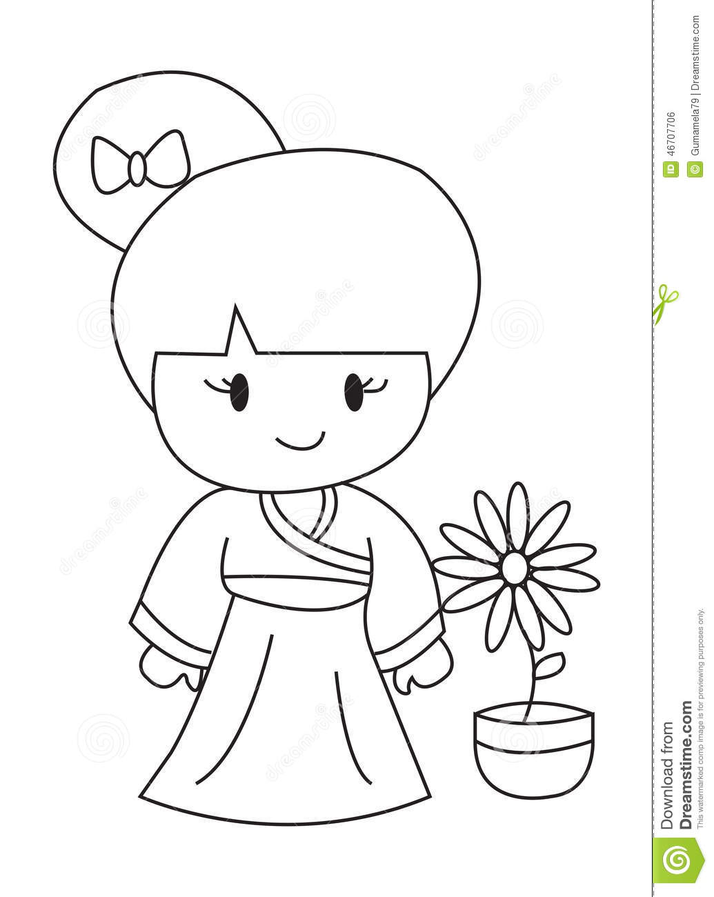 Royalty Free Stock Image Hand Drawn Coloring Page Of A