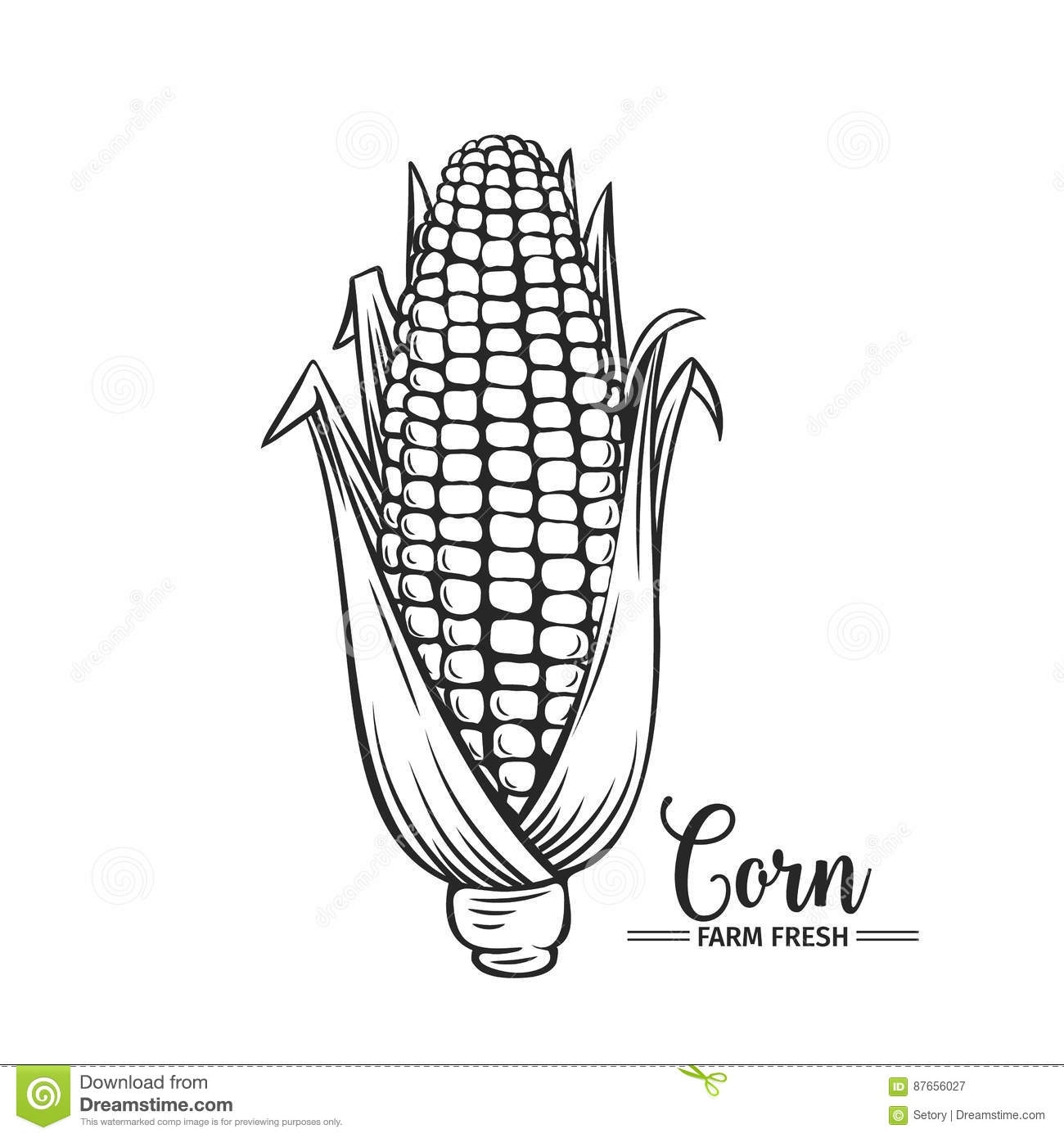 Corn Icon Outline Singe Vegetables Icon From The Eco Food