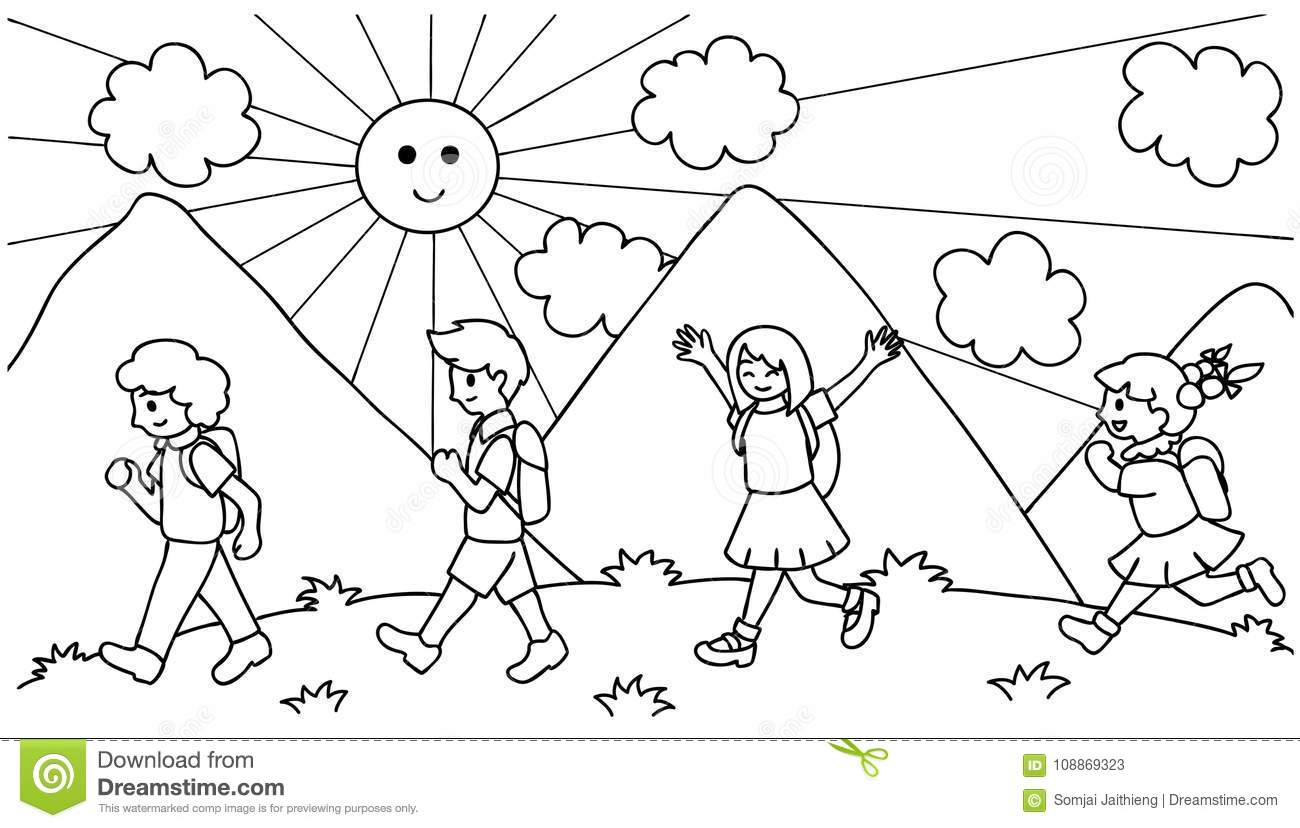 Kids Walking Stock Illustrations 3 645 Kids Walking Stock Illustrations Vectors Amp Clipart