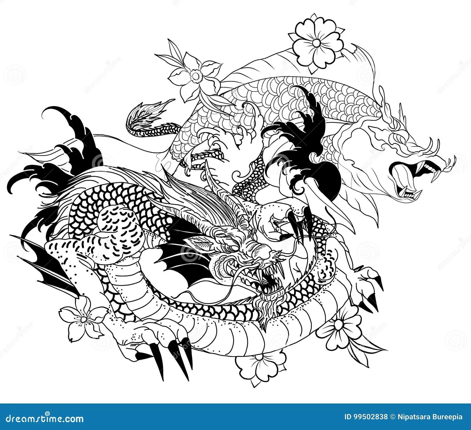 Japanese Dragon Drawings Easy