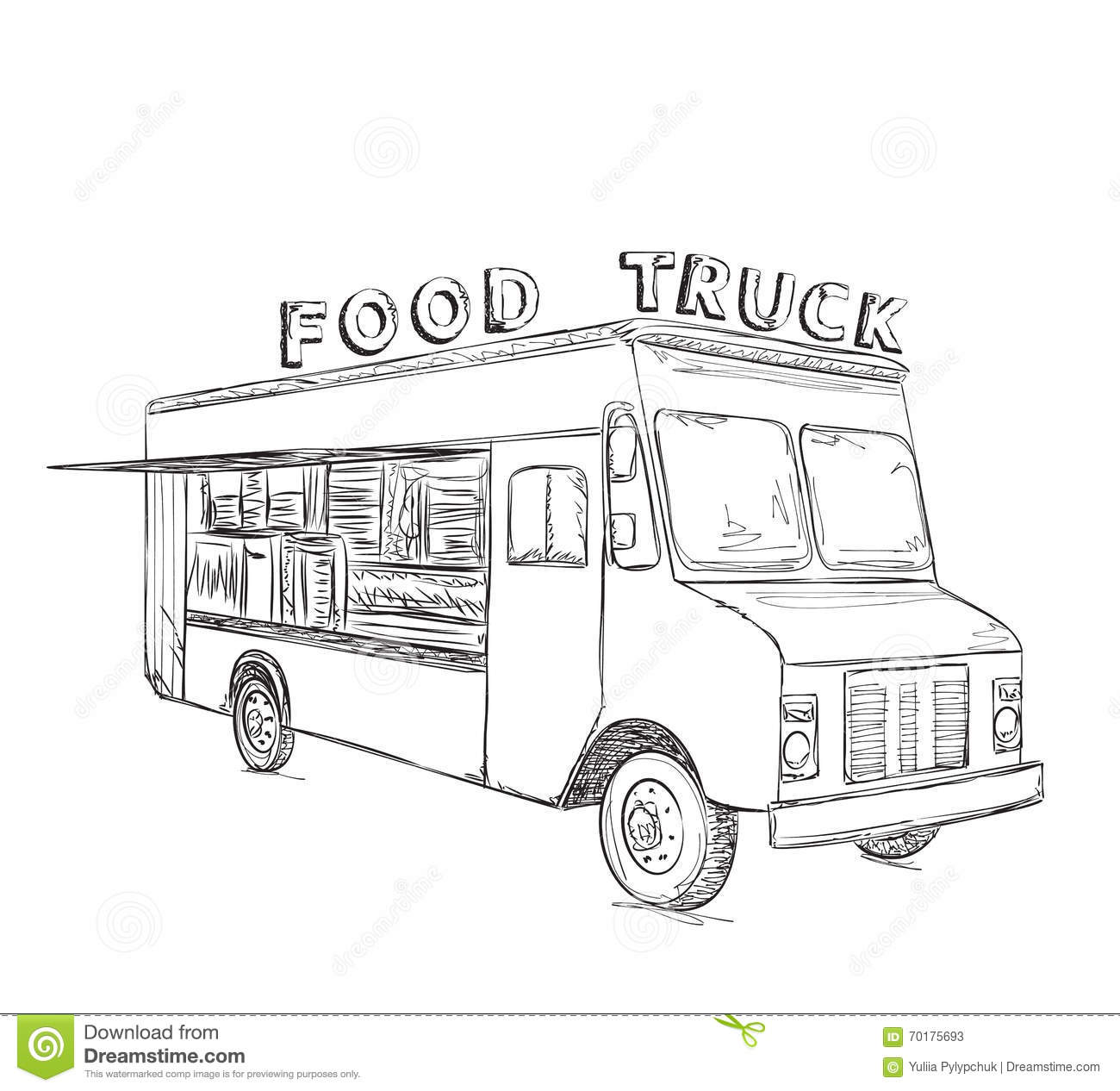 Plain Food Truck Clip Art