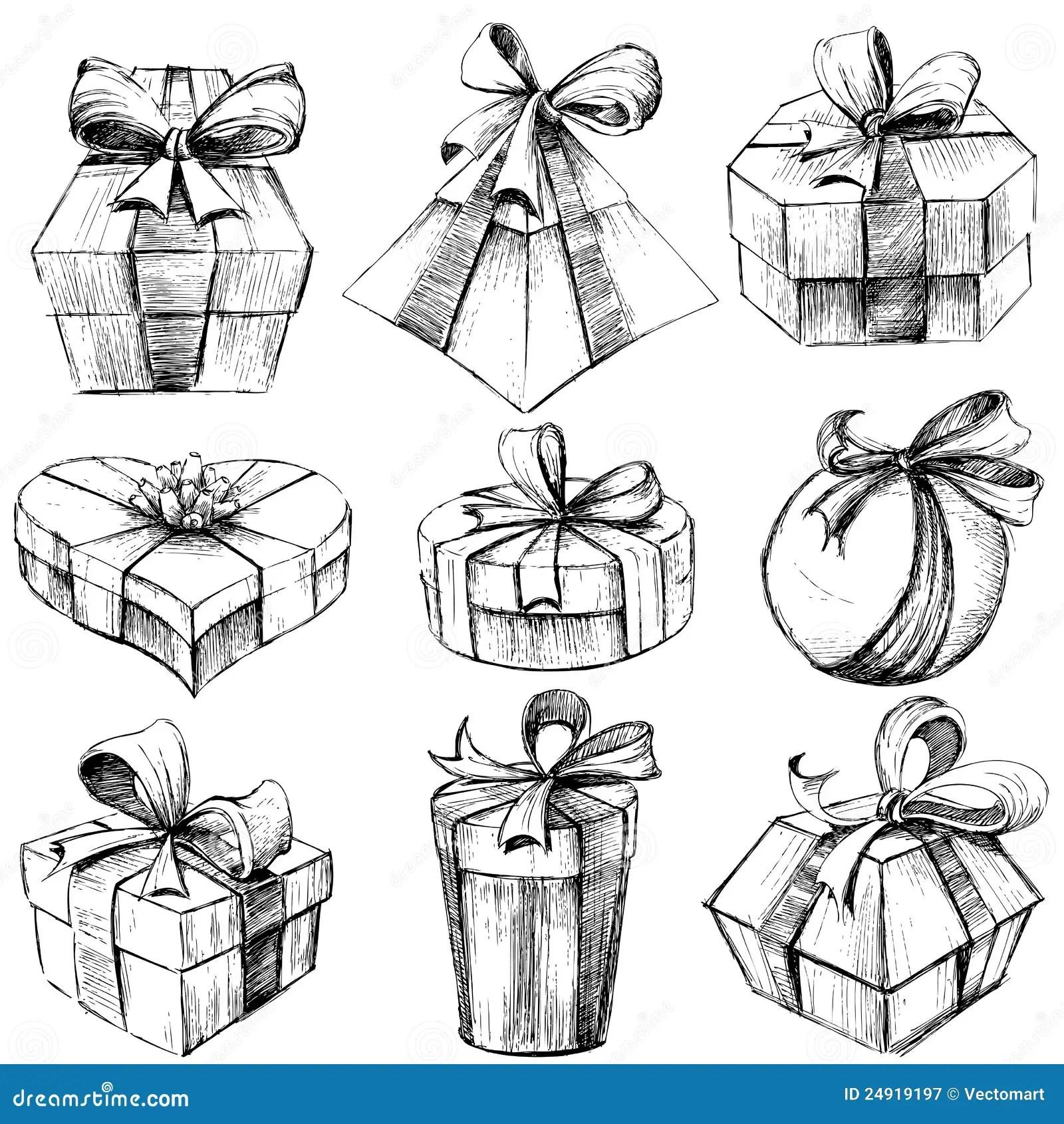 Hand Drawn T Box Stock Vector Illustration Of Birthday