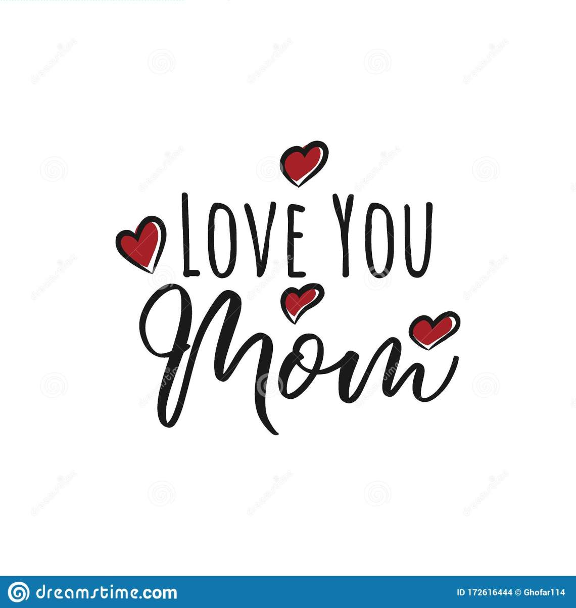 Download Greeting I Love You Mom Phrase. A Card With I Love You Mom ...