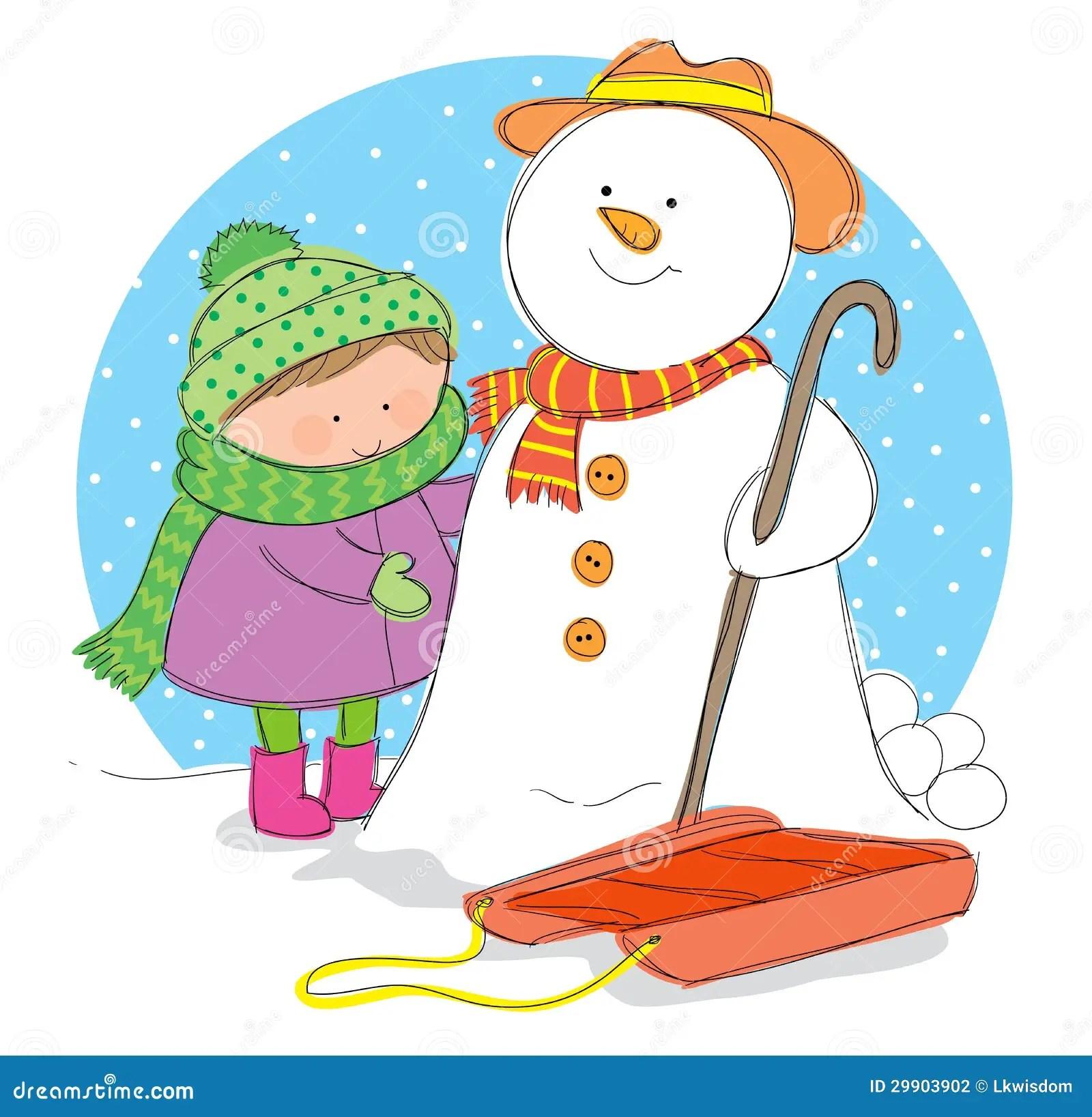 Winter Season Stock Vector Illustration Of Sledge