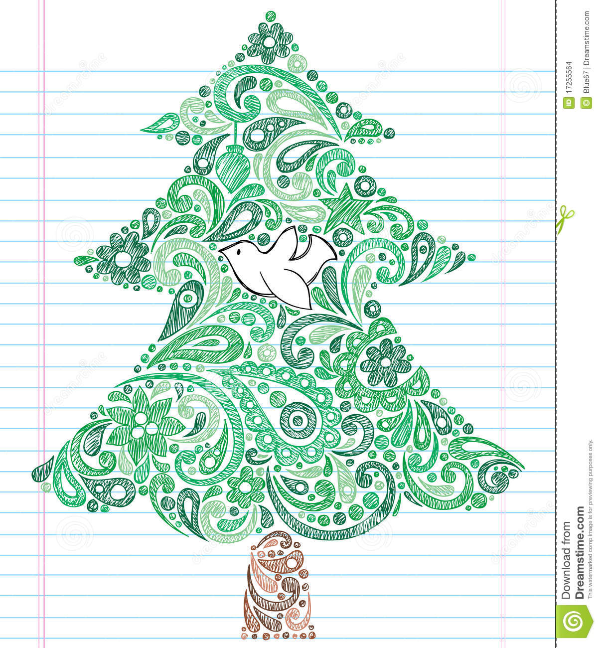 Christmas Decorative Lined Paper