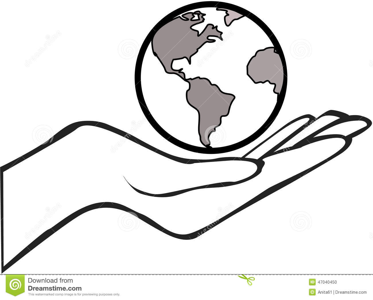 Hand With The Earth Stock Vector