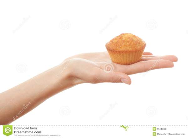 Hand holding cake stock photo Image of fingers holding