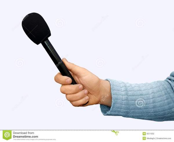 Hand With Microphone Stock Photography Image 6511032