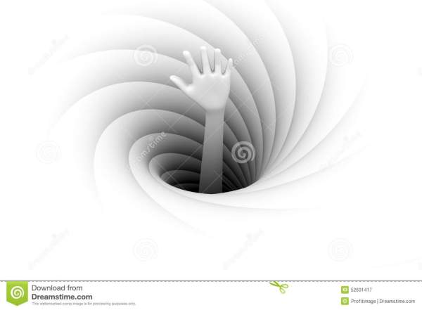 The Hand Sticking Out Of A Black Hole Stock Illustration ...