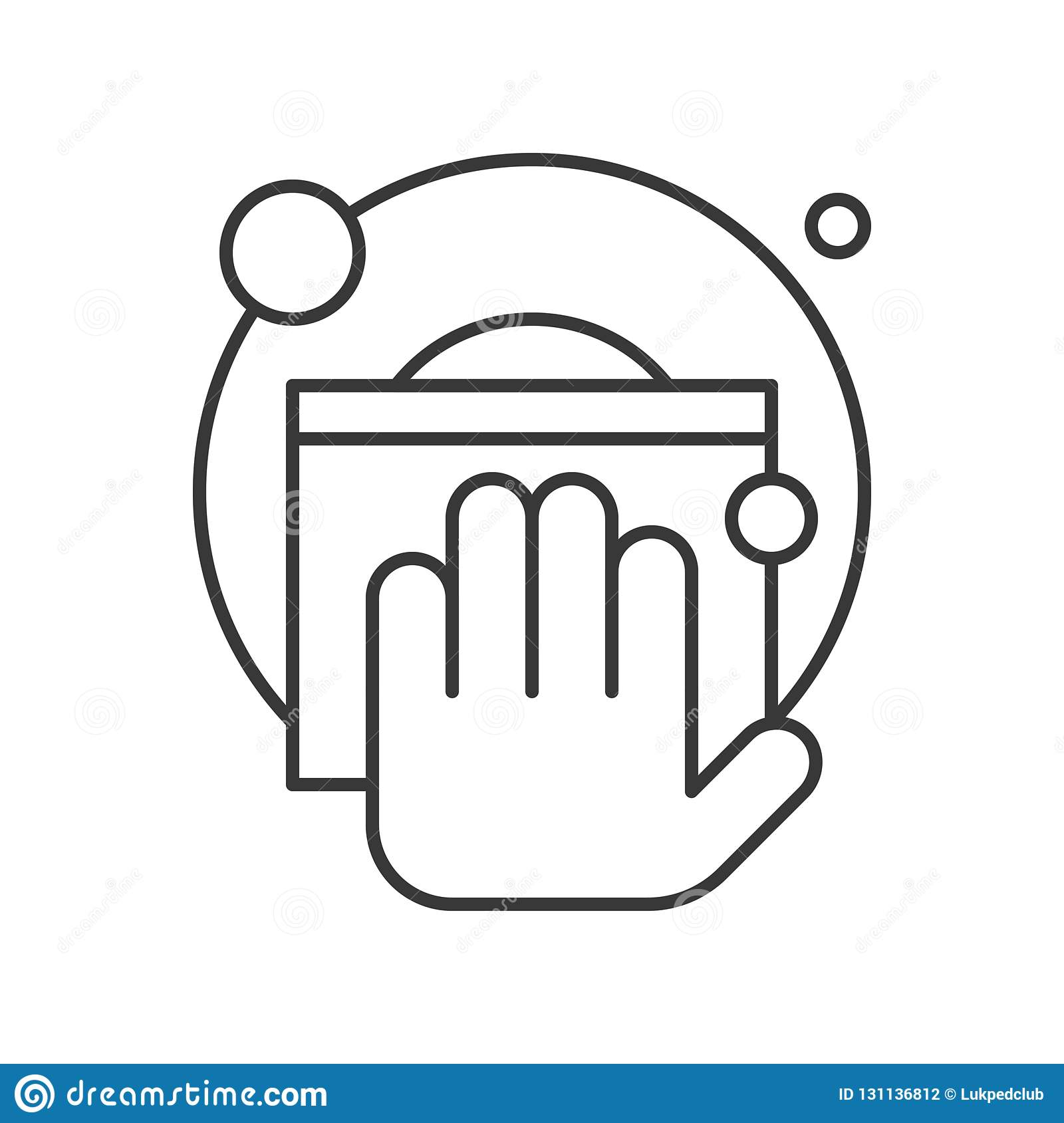 Hand Washing Dish Cleaning Service Related Outline Icon