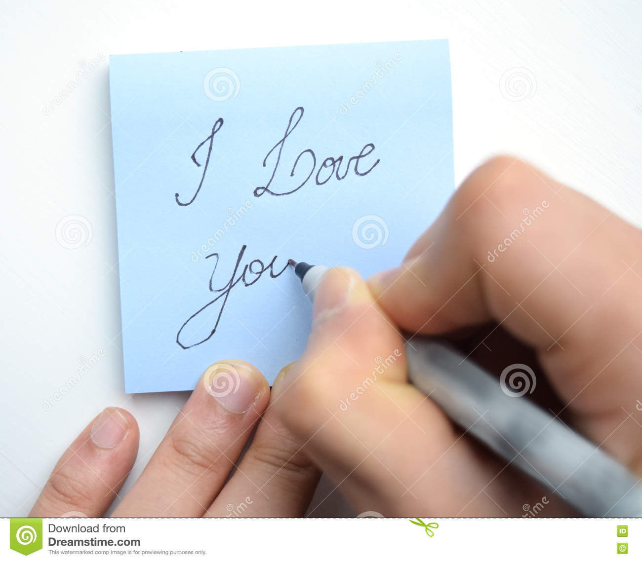 Hand Writing I Love You Stock Photo Image Of Note