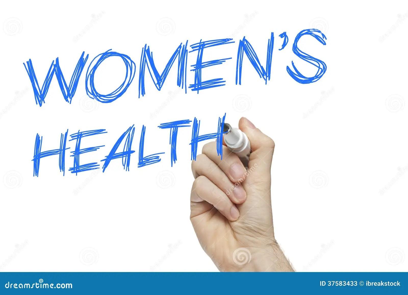 Hand Writing Women S Health Stock Image
