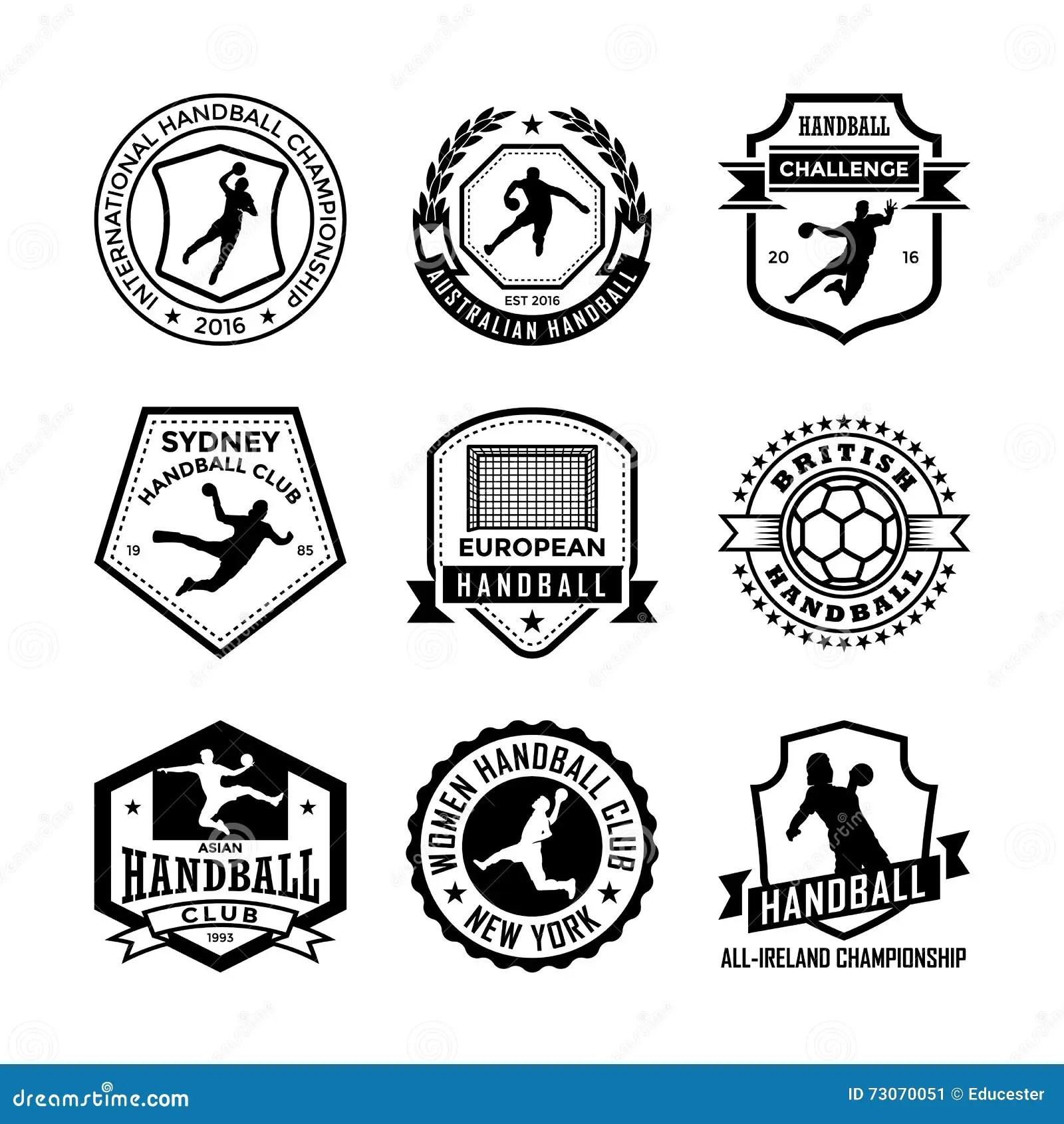 Handball Vector Icons 19 Stock Illustration
