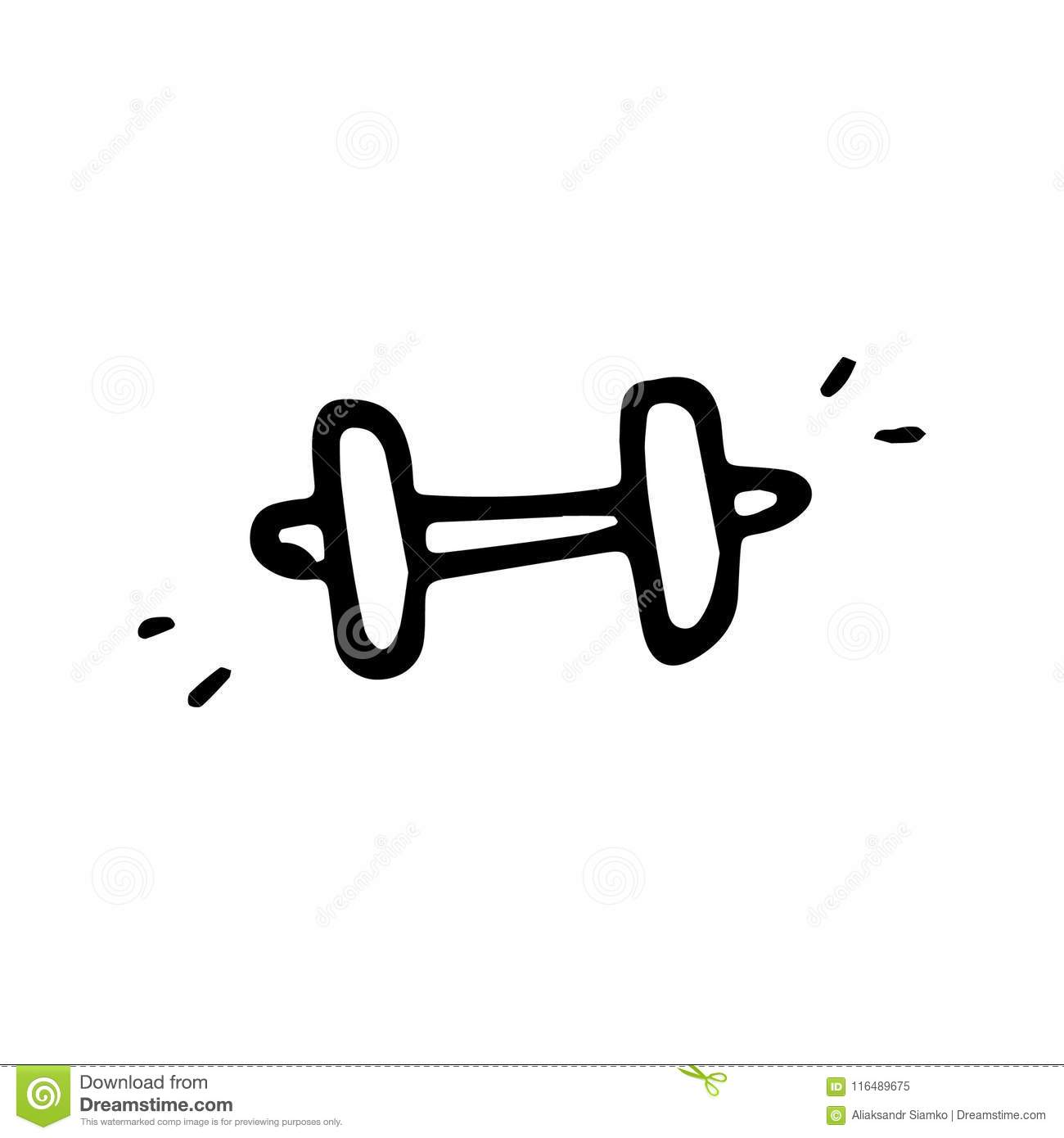 Barbell Doodle Stock Illustrations 205 Barbell Doodle