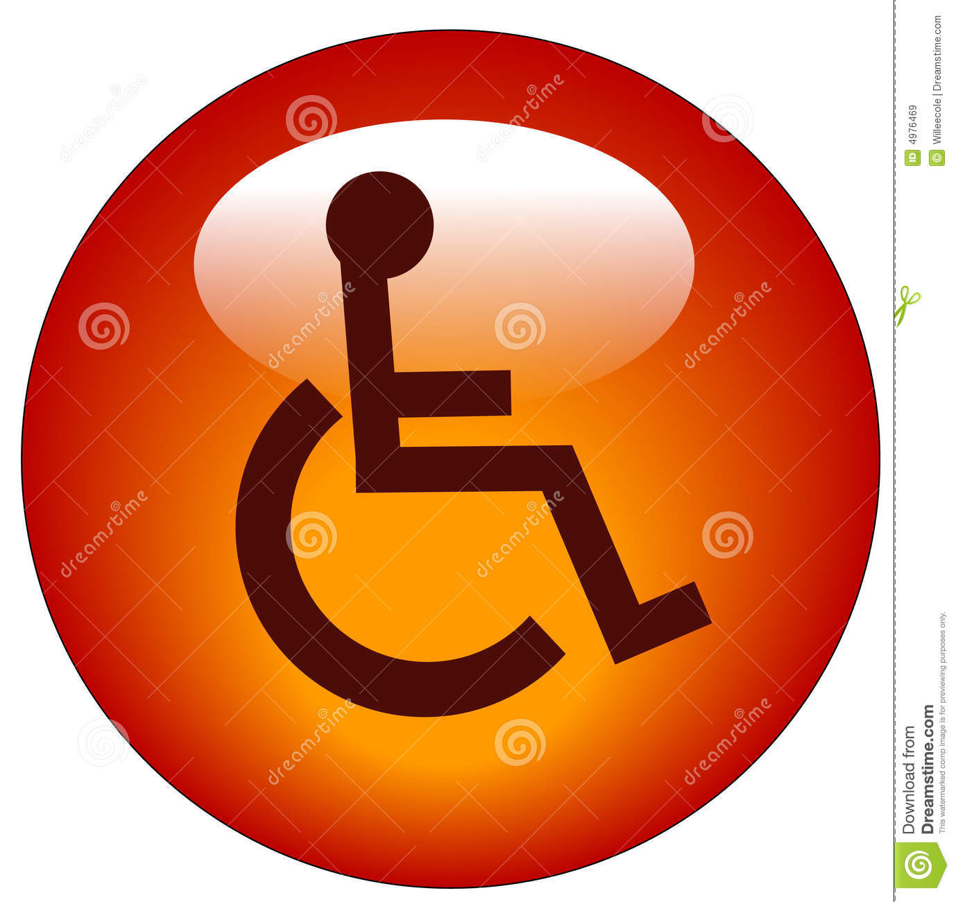 Handicap Web Icon Stock Vector Image Of Reserved Icon