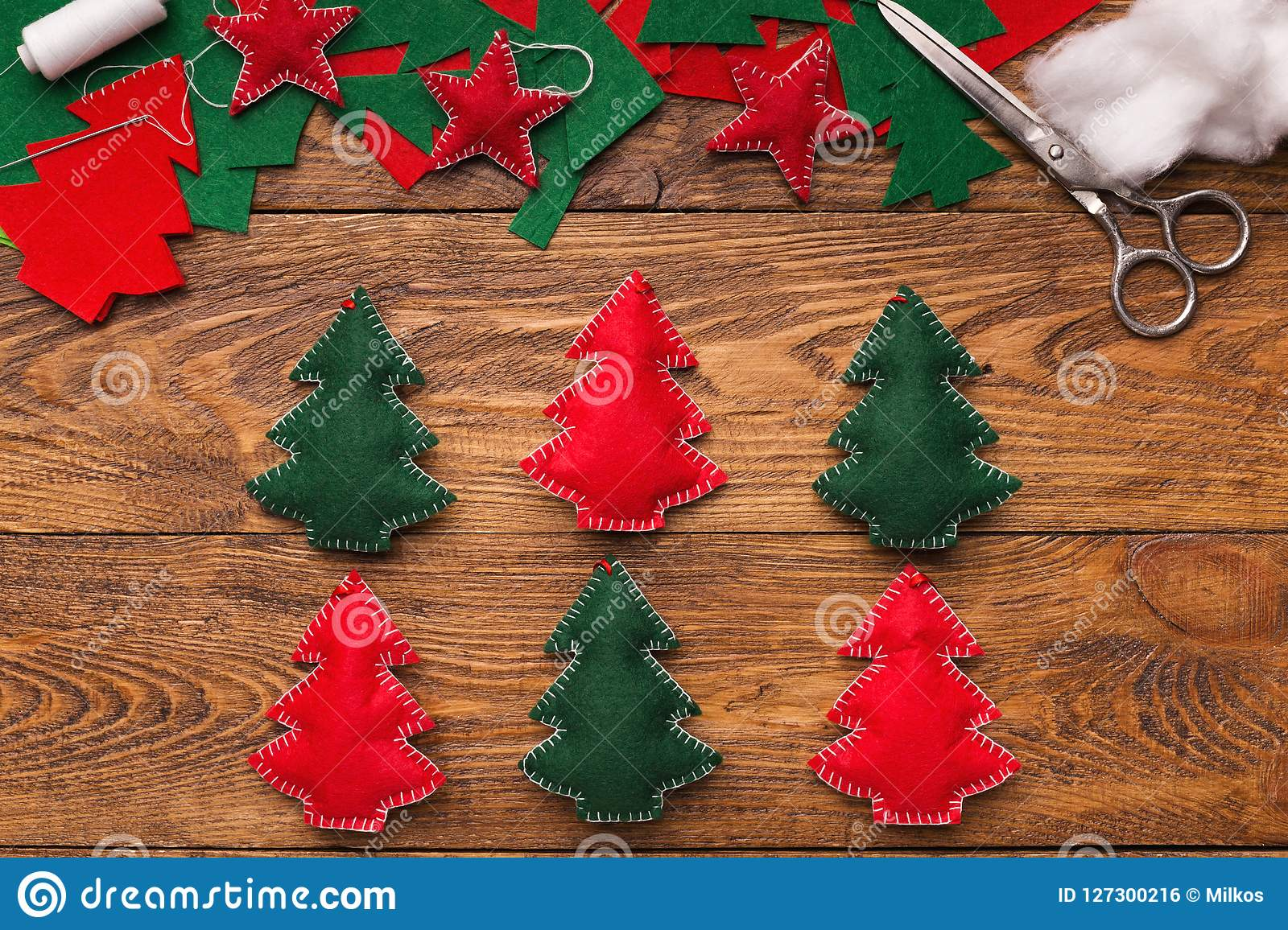 Handmade Christmas Decorations Diy Project For Holidays Stock Photo Image Of Decoration Decor 127300216