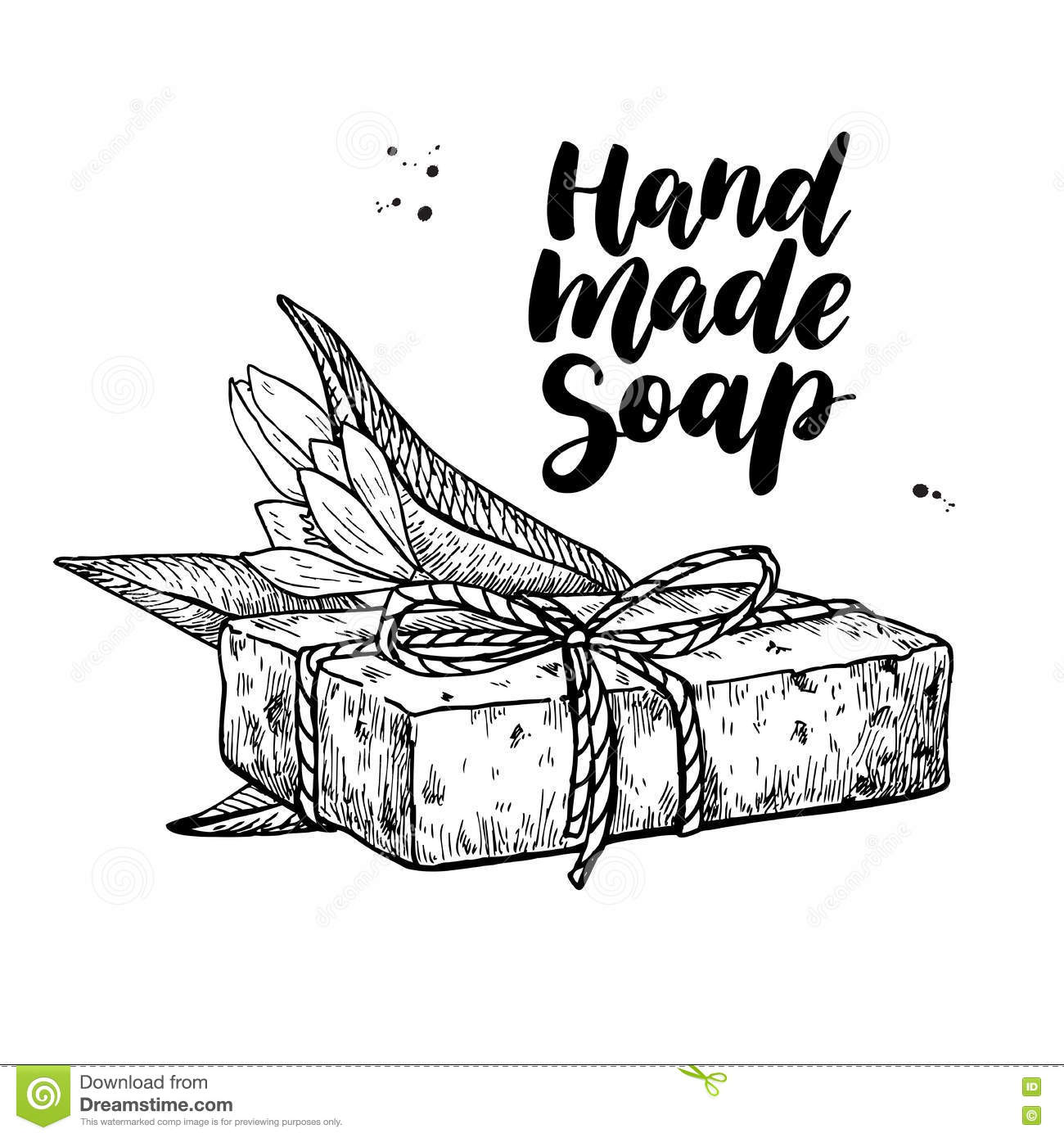 Handmade Natural Soap Vector Hand Drawn Cosmetic With